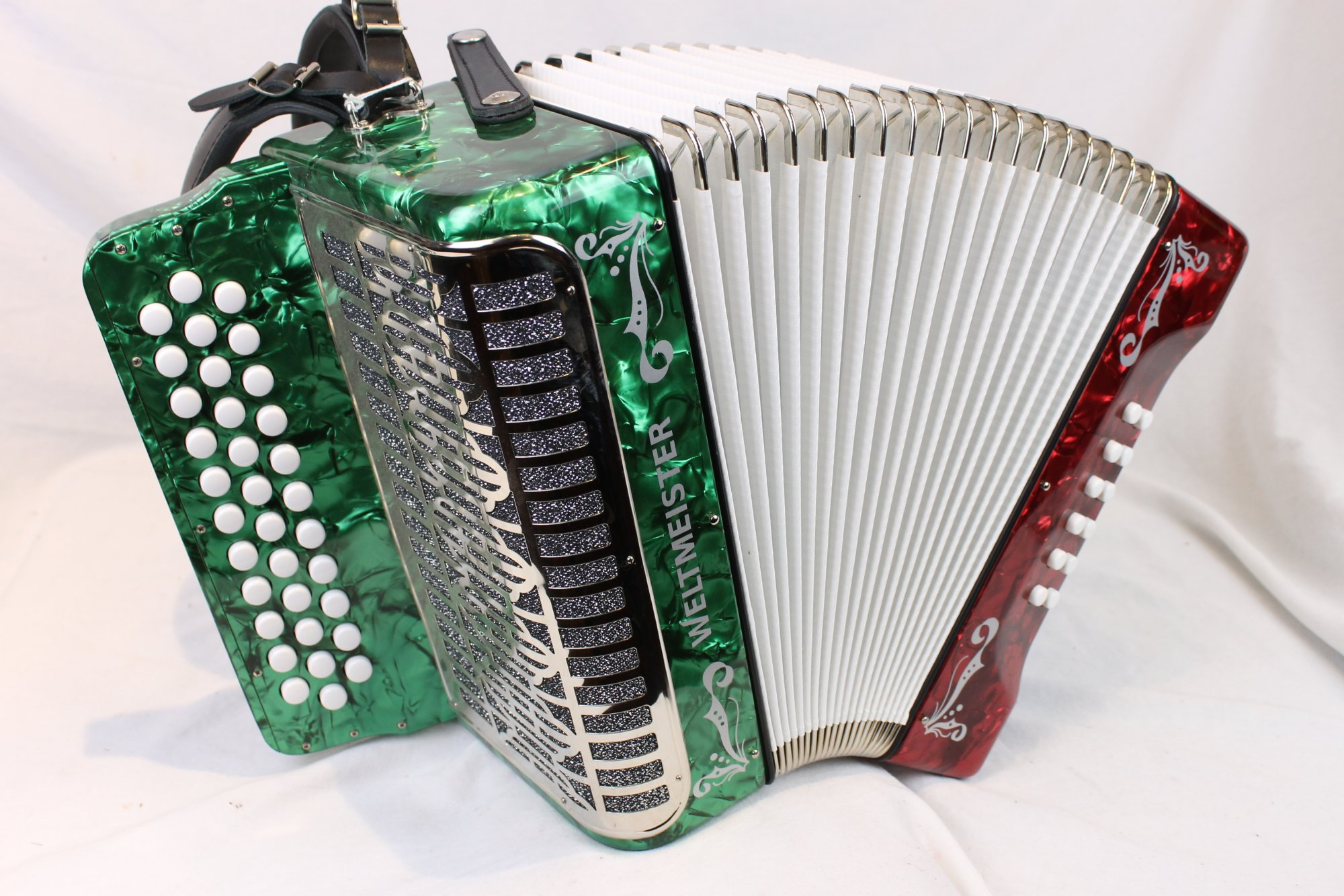 NEW Bandera Weltmeister 571 Diatonic Button Accordion MM FBbEb Fa 34 12 Made in Germany