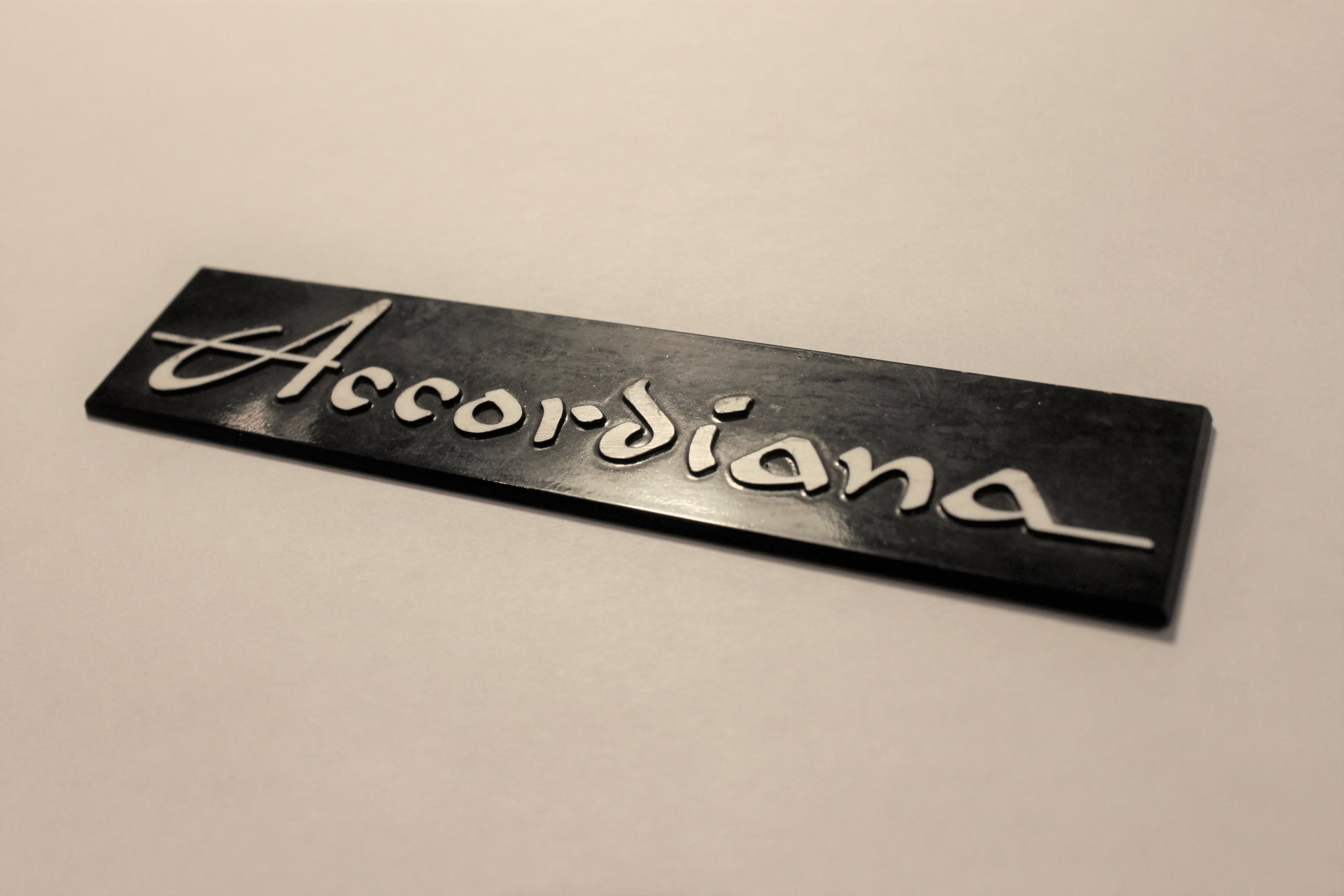 Excelsior Accordiana Black Horizontal Logo Accordion Part