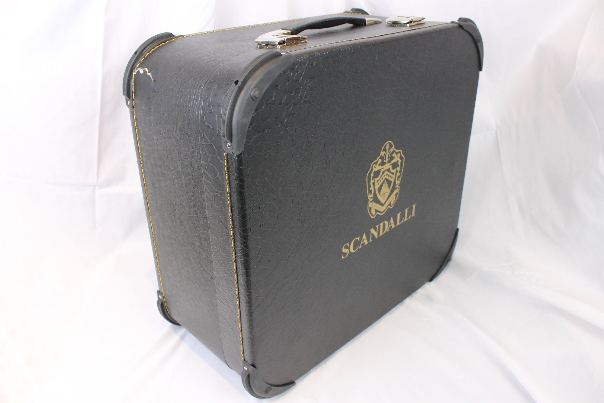 NEW Black Scandalli Air I Accordion Hard Case 20.25 x 19 x 9