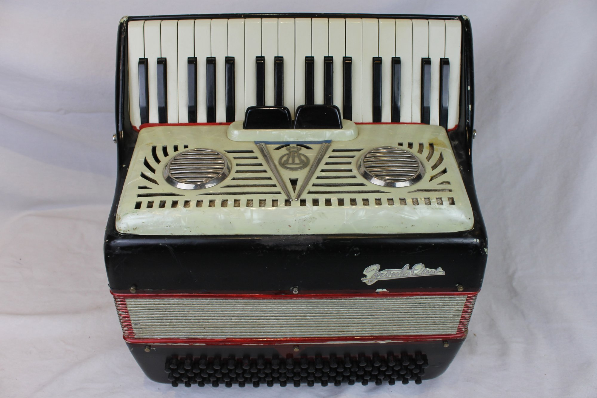 6082 - Black Frontalini Piano Accordion 34 111 - Treble Only, No Bass Blocks