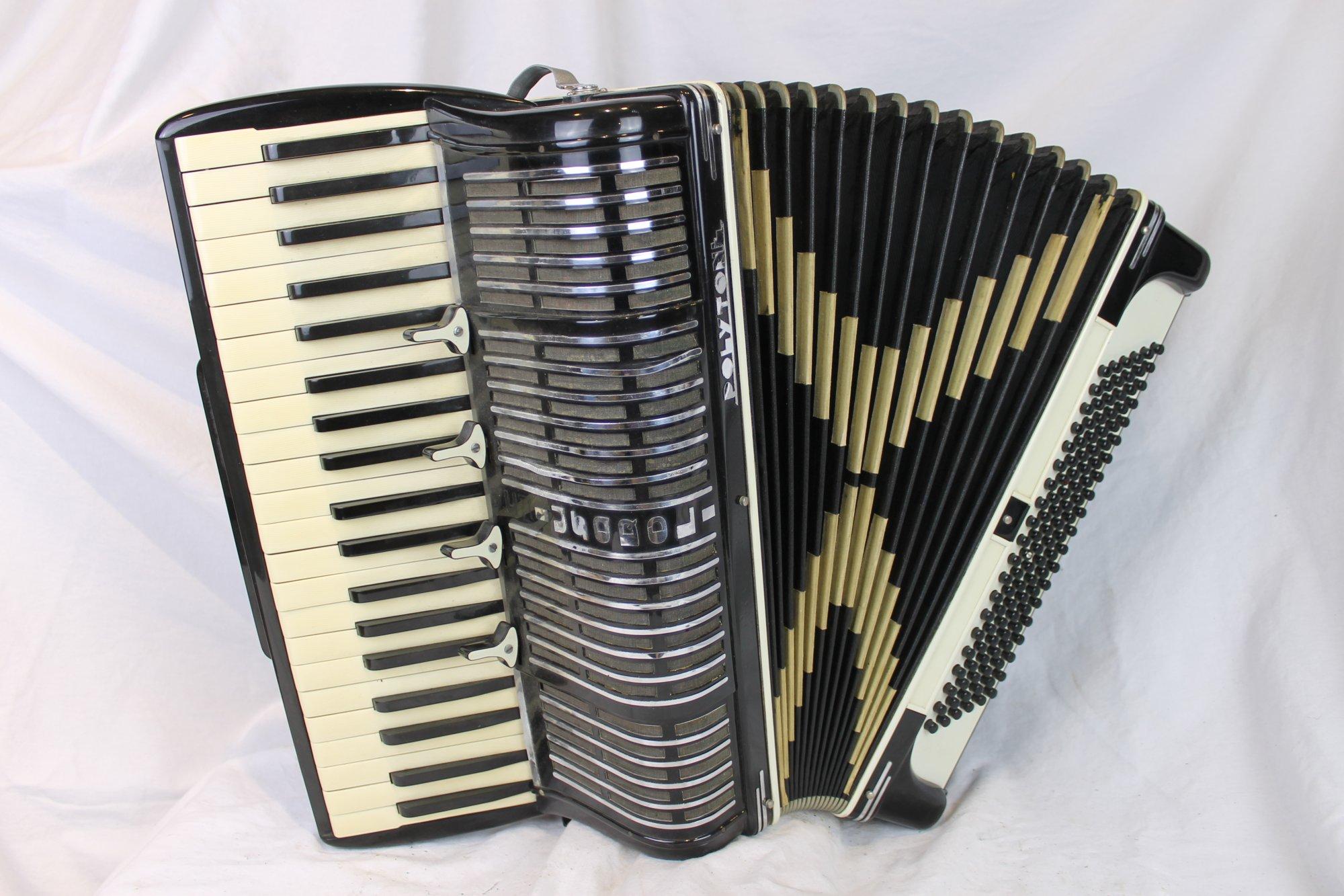 6141 - Black Polytone Piano Accordion LMMH 41 120