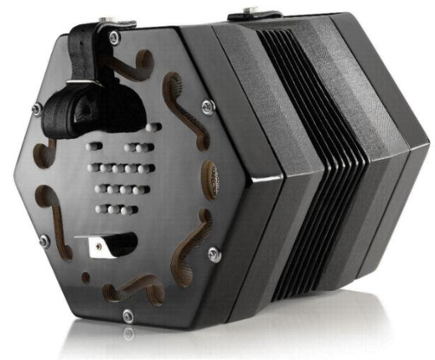 NEW Black Concertina Connection Jackie English Concertina Treble G3-C6