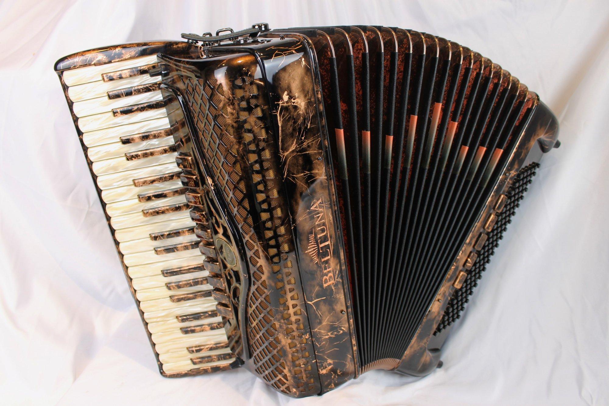 NEW Antique Copper Beltuna Euro IV Special Piano Accordion LMMM 41 120
