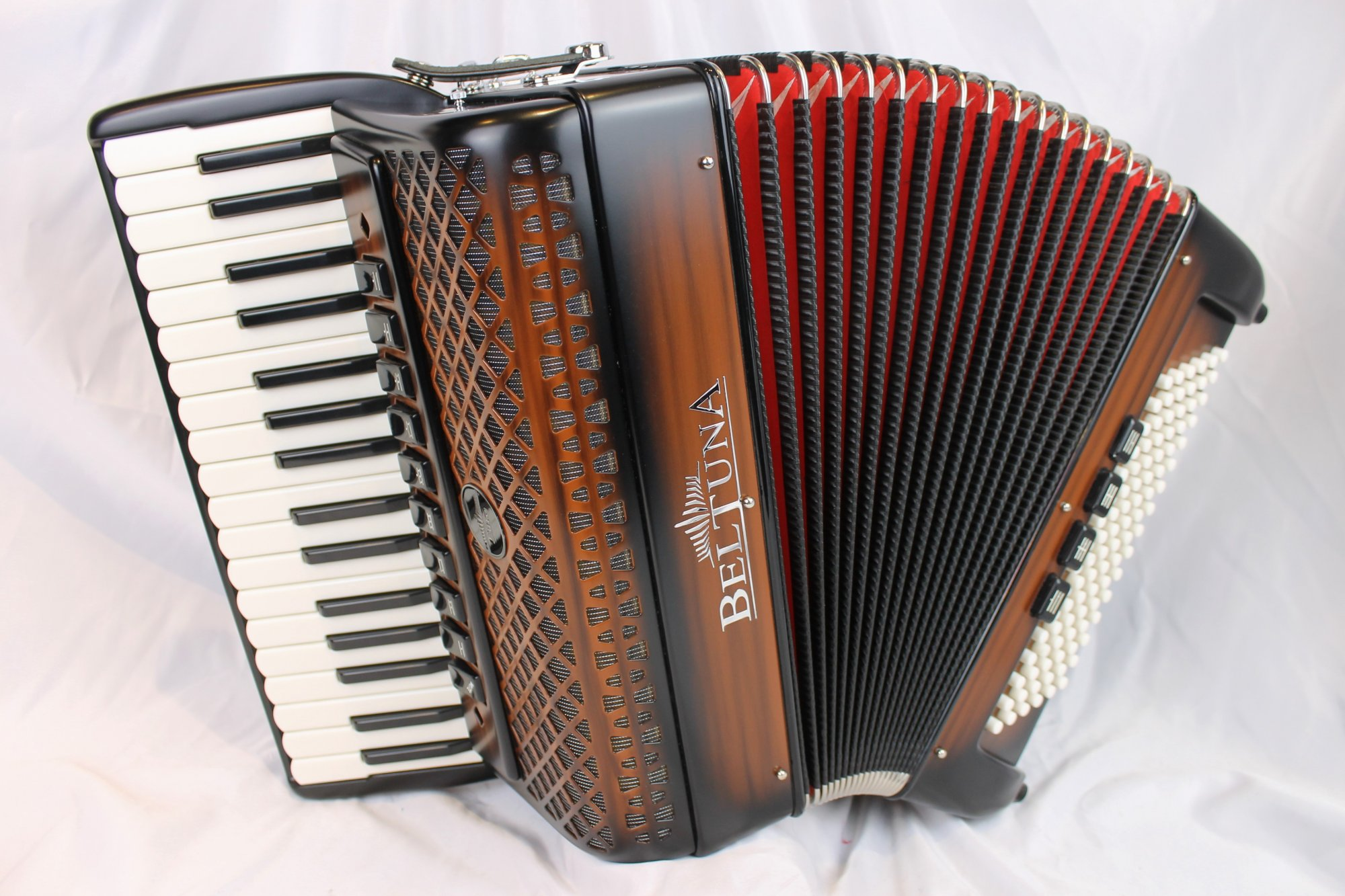 NEW Chocolate Beltuna Euro IV Special Piano Accordion LMMM 34 96