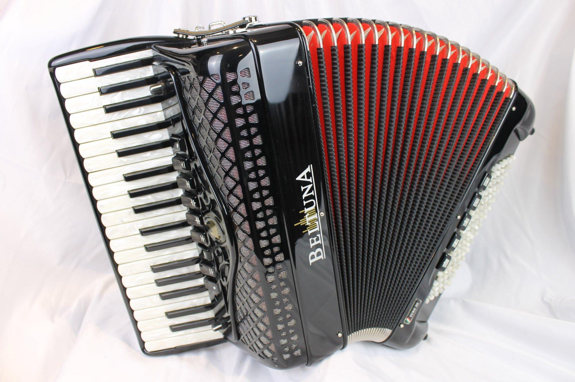 5015 - Like New Black Beltuna Euro III Piano Accordion LMH 37 96