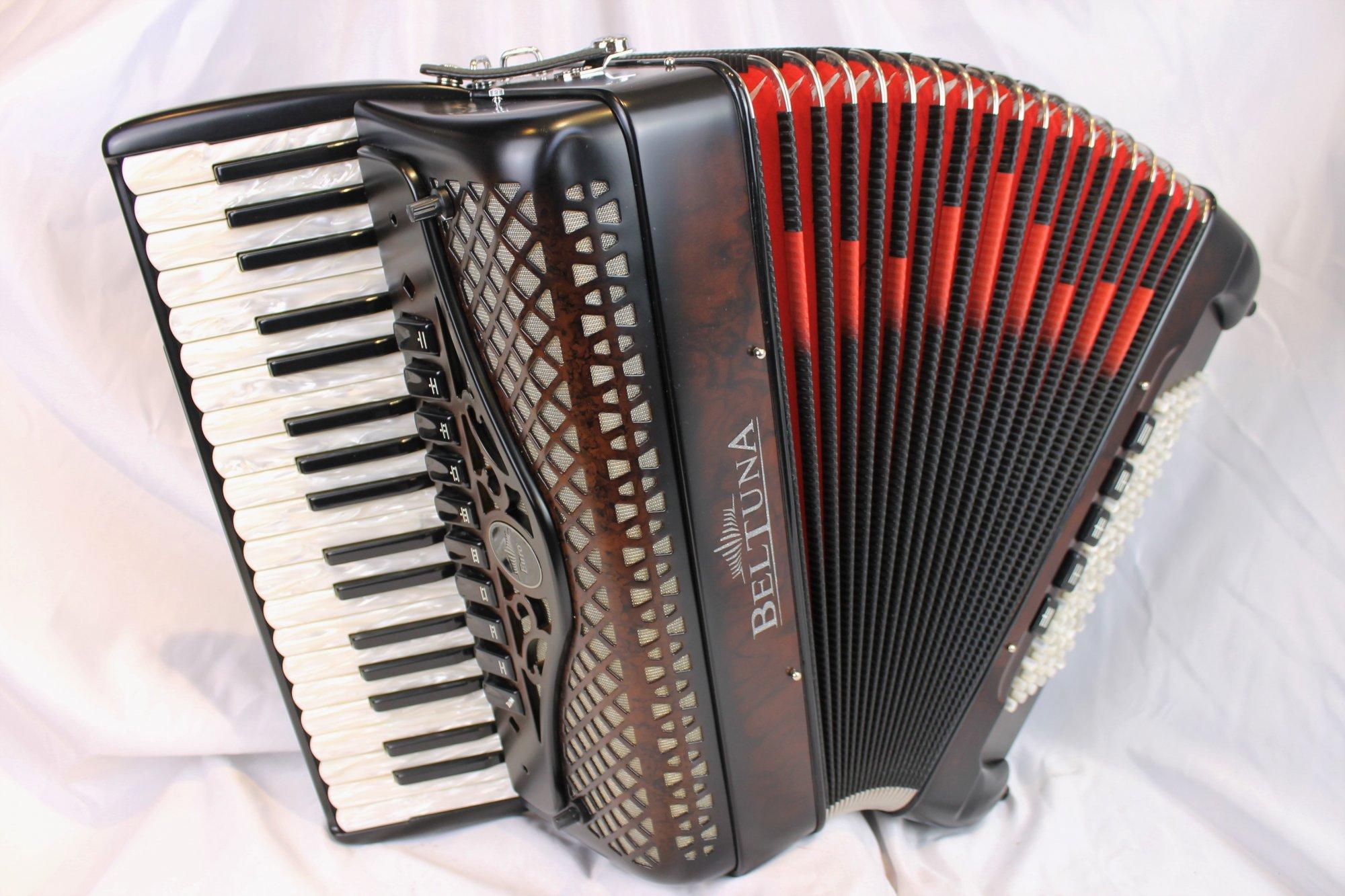 NEW Dark Chocolate Beltuna Euro IV Piano Accordion LMMM 37 96