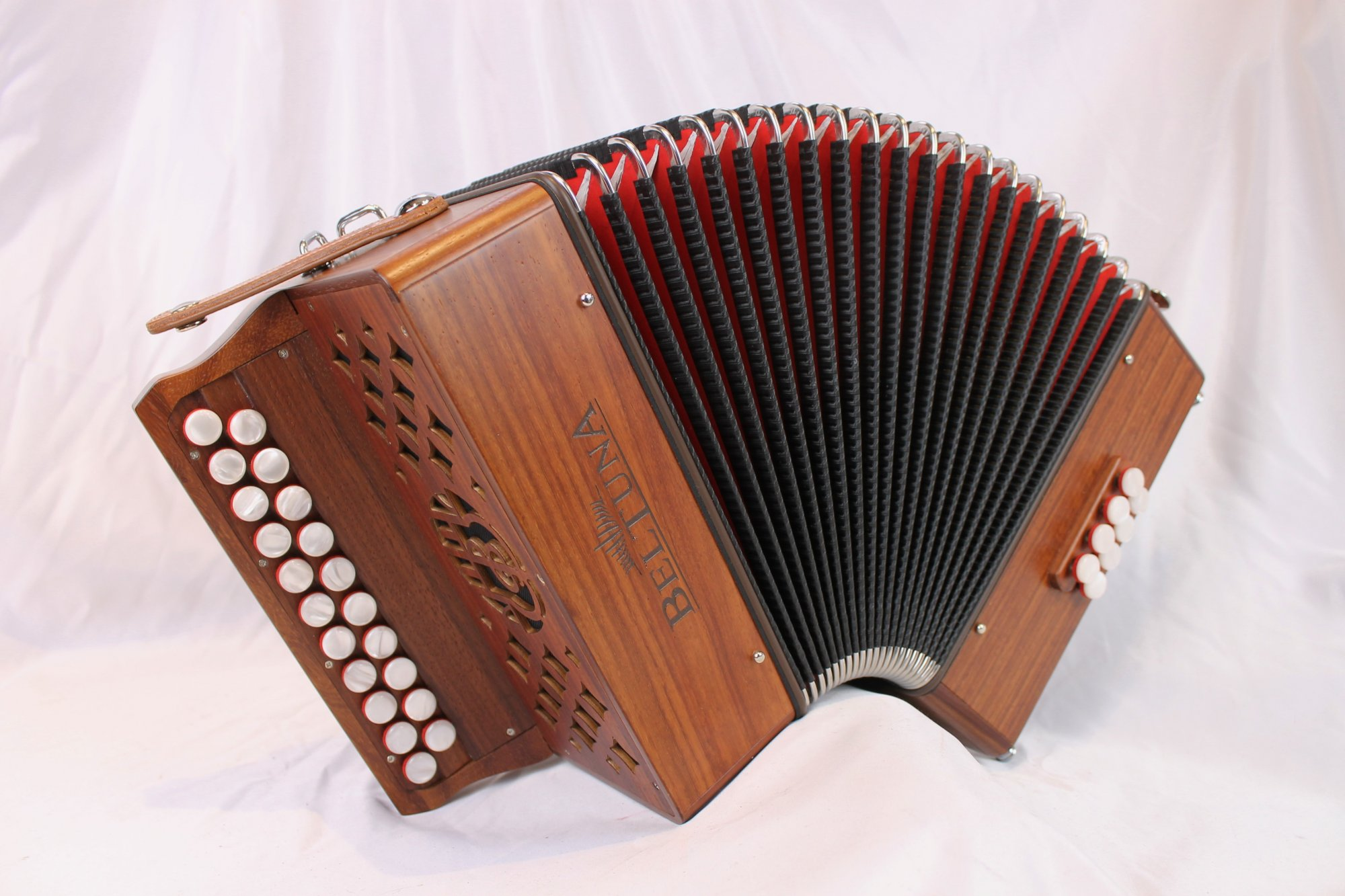 NEW Padauk Beltuna Sara Diatonic Button Accordion GC MM 21 8