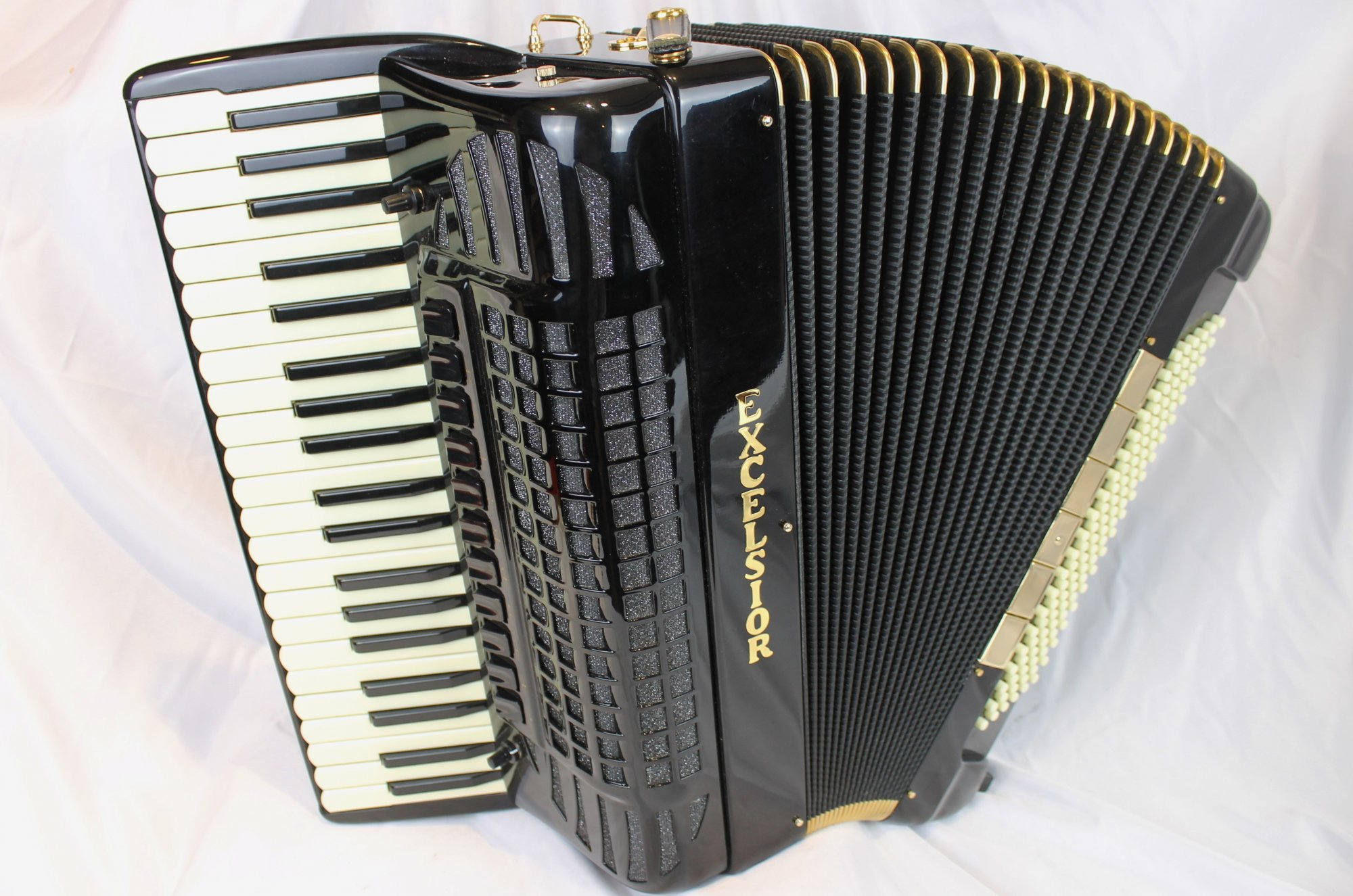 NEW Black Excelsior 940 Gold Piano Accordion LMMH 41 120