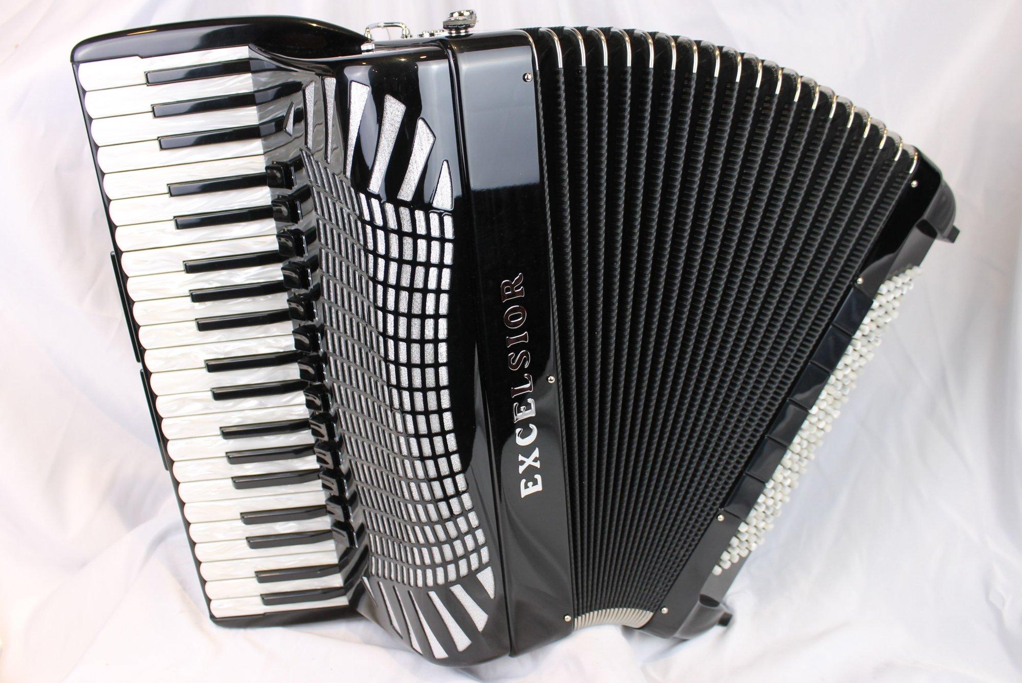 NEW Black Excelsior 990 Piano Accordion LMMM 41 120