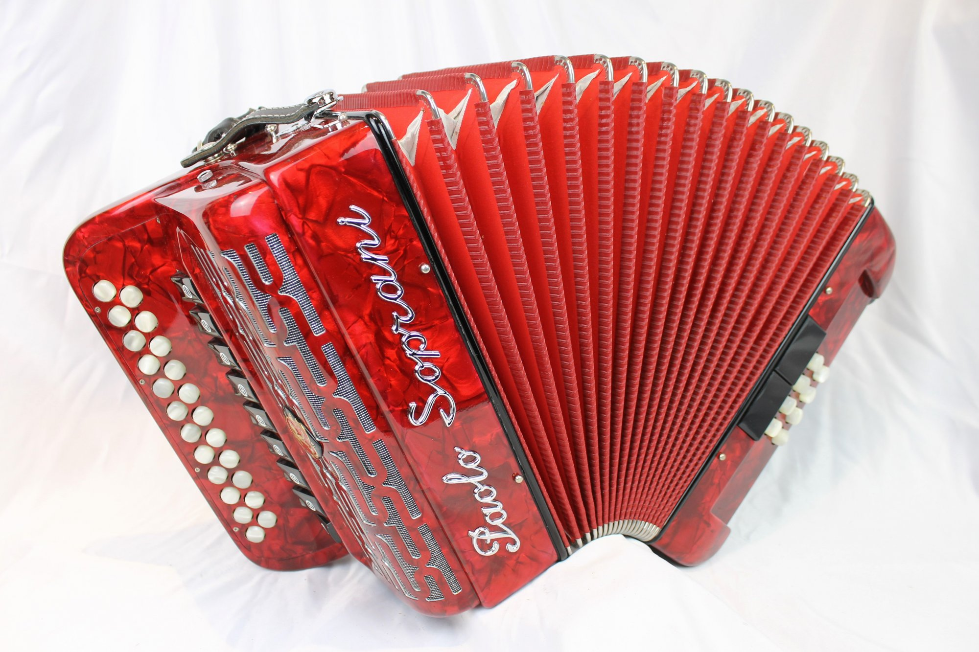 5038 - Red Paolo Soprani Elite III Diatonic Accordion BC LMMM 23 8