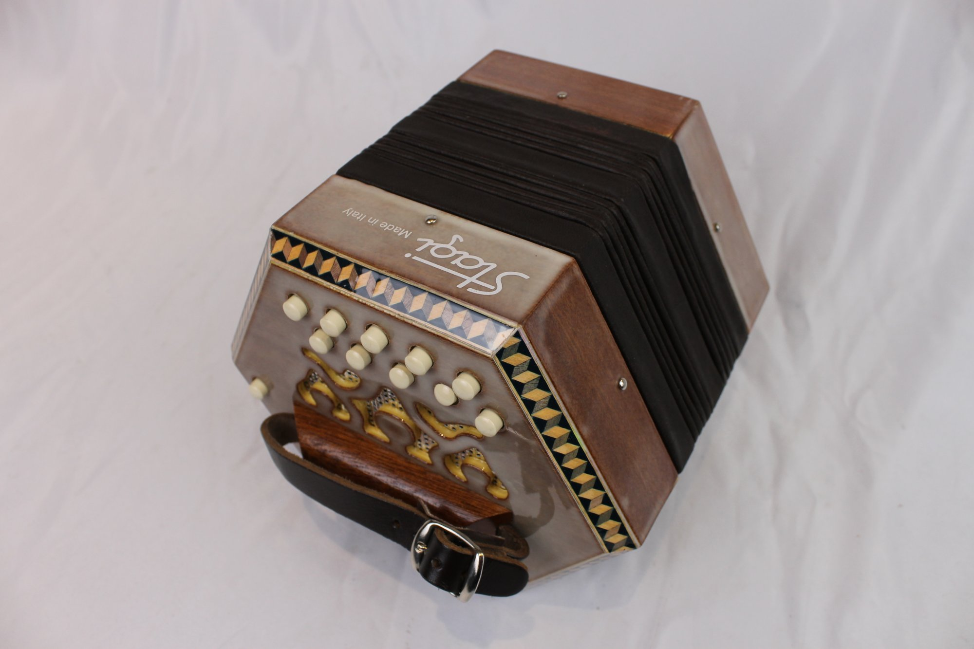 5086 - Mahogany Stagi C-1 Anglo Concertina DG M 20