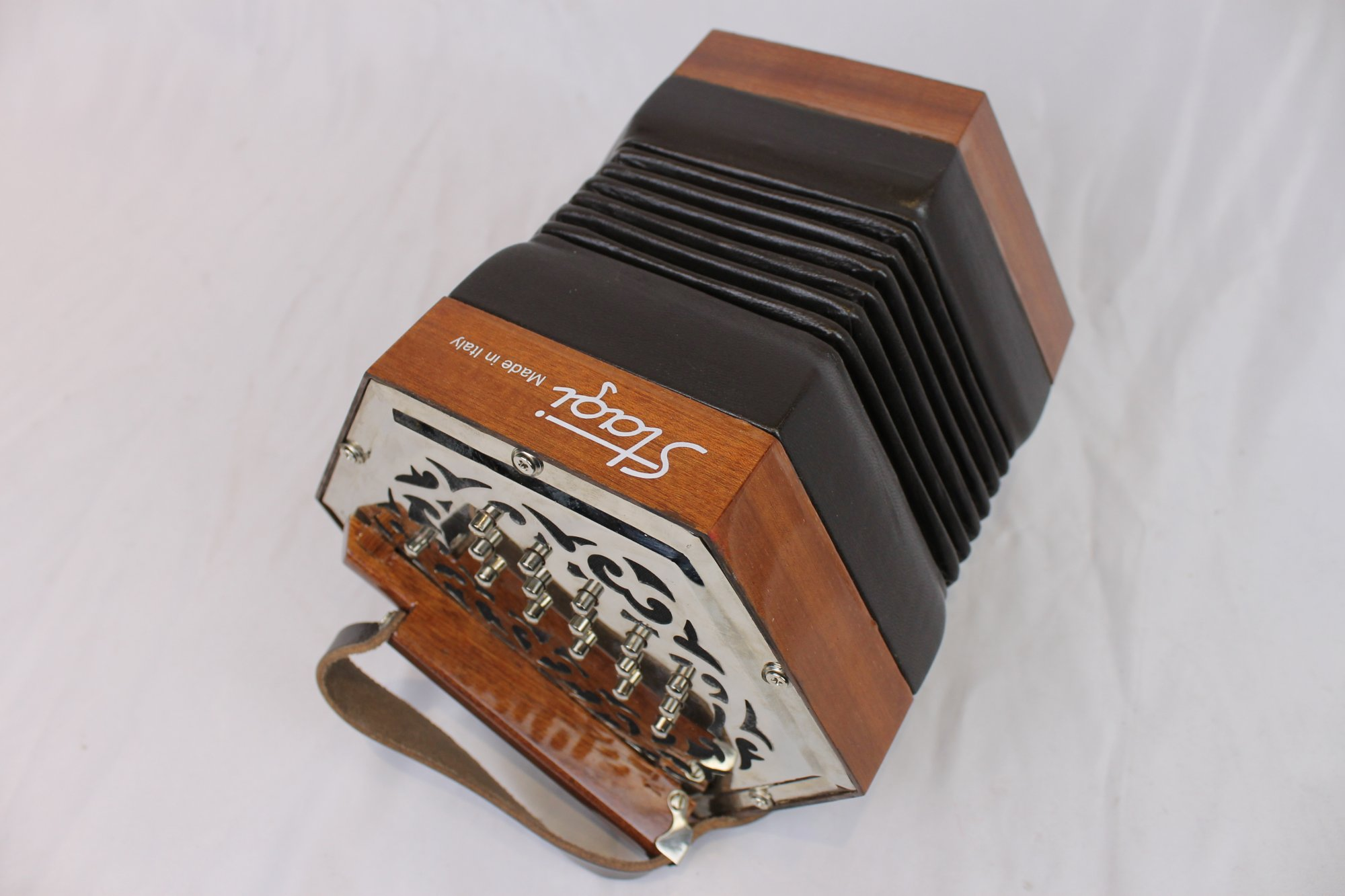 5102 - Chrome Stagi W-15 Anglo Concertina DG M 30