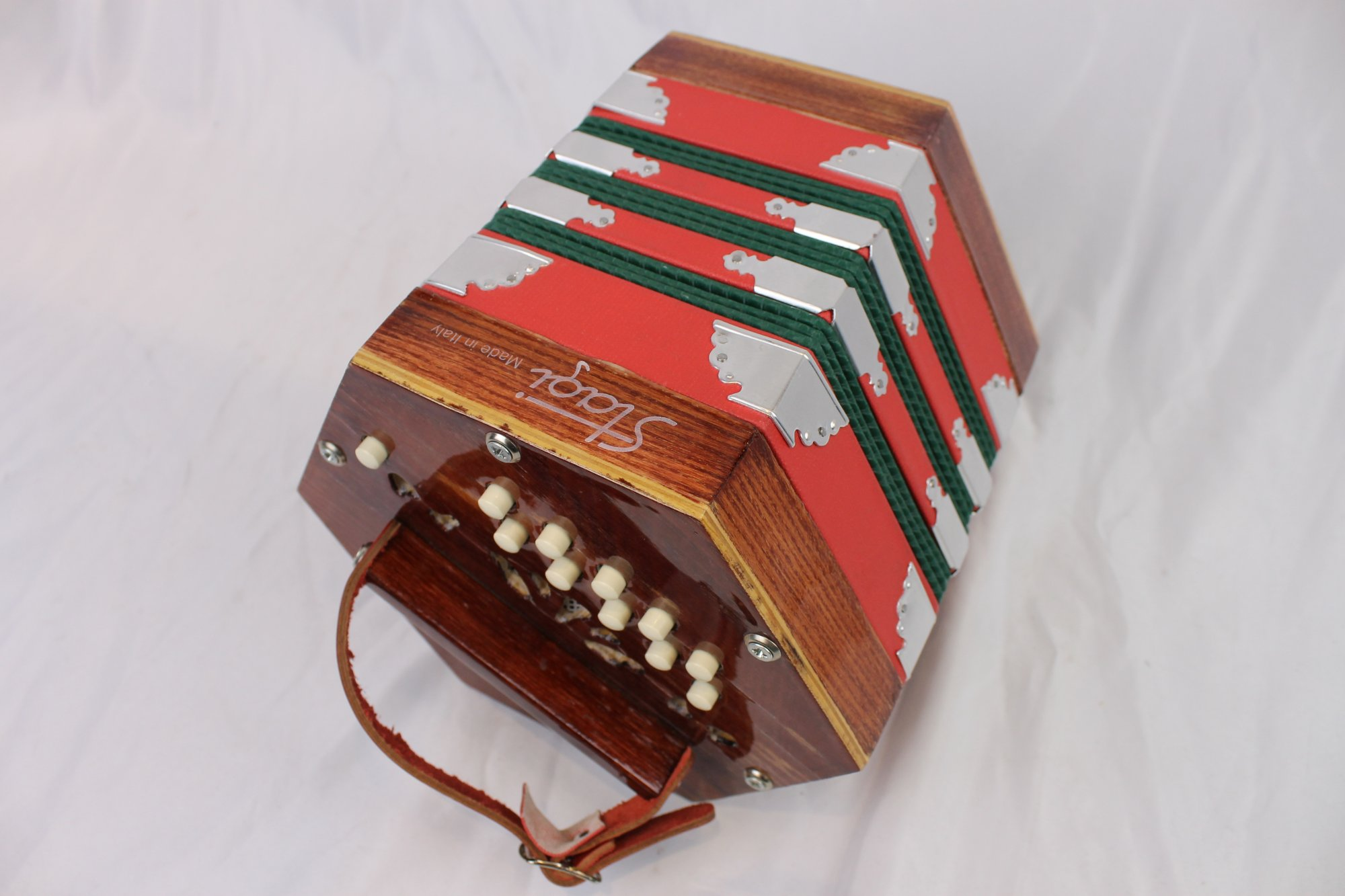 5111 - Red Stagi Anglo Concertina CG M 20