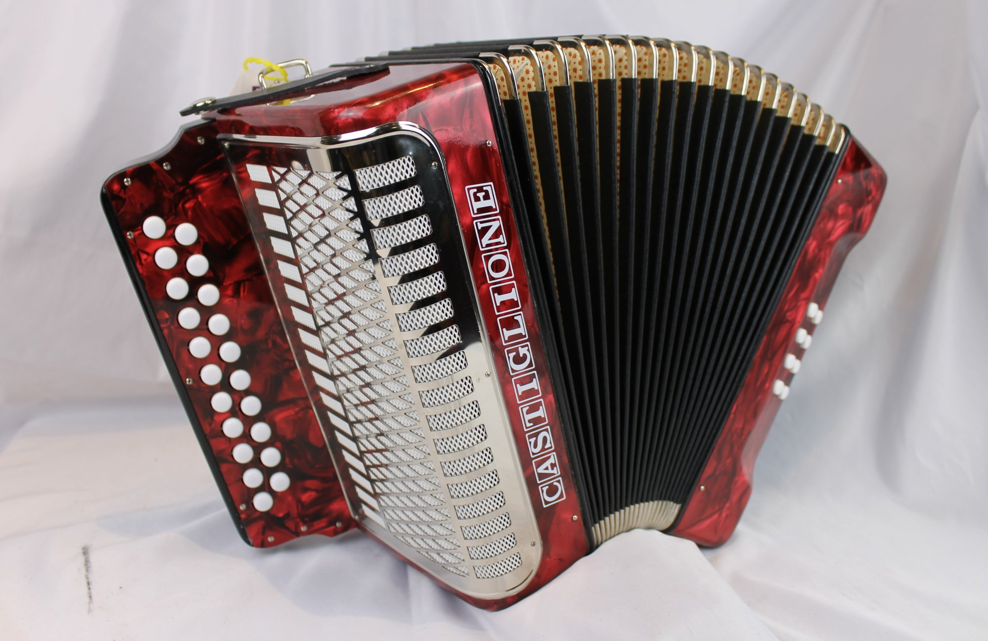 NEW Red Castiglione Weltmeister 406 Diatonic Button Accordion AD 21 8