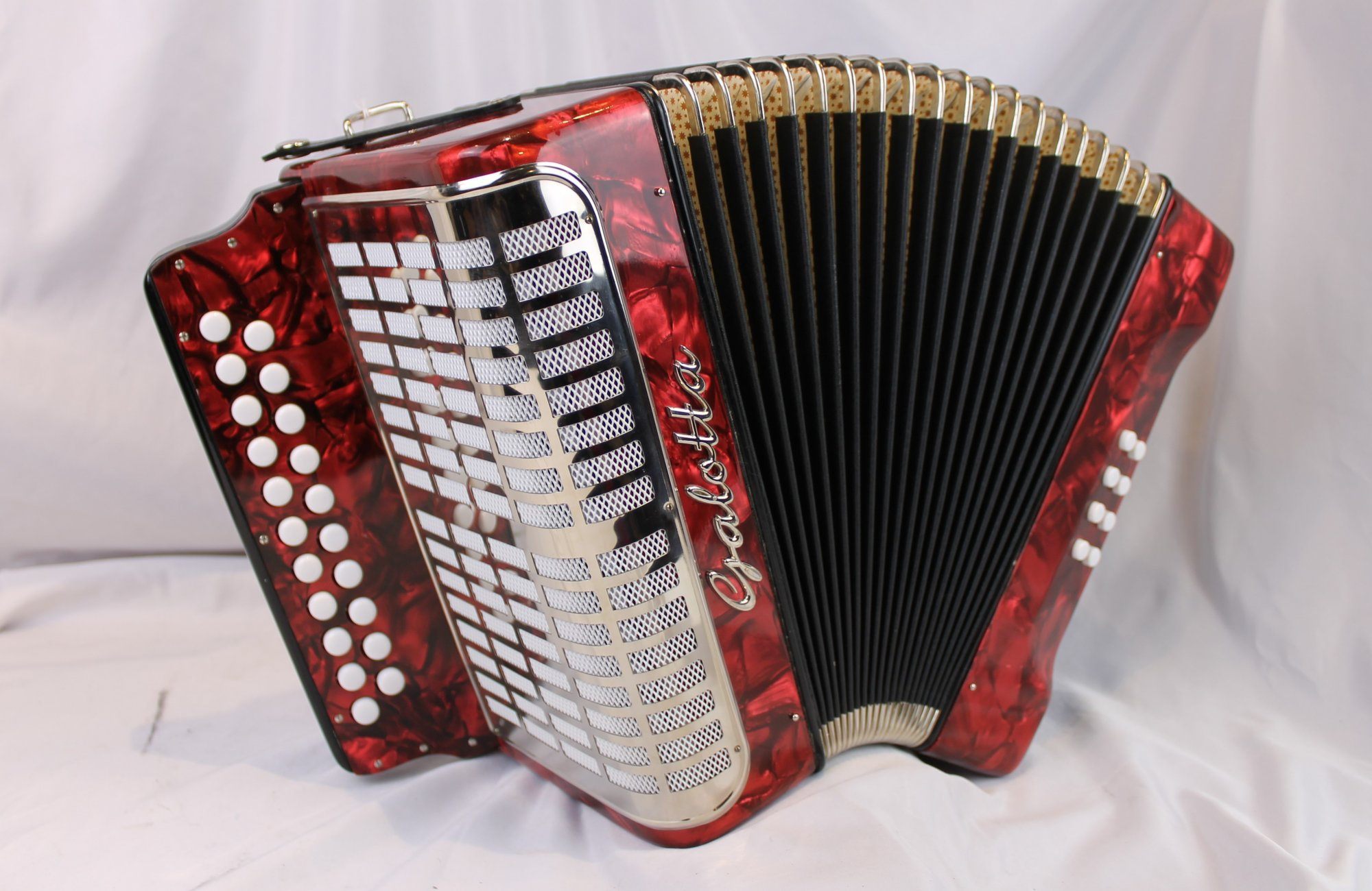 NEW Red Galotta Weltmeister 406 Diatonic Button Accordion CF 21 8