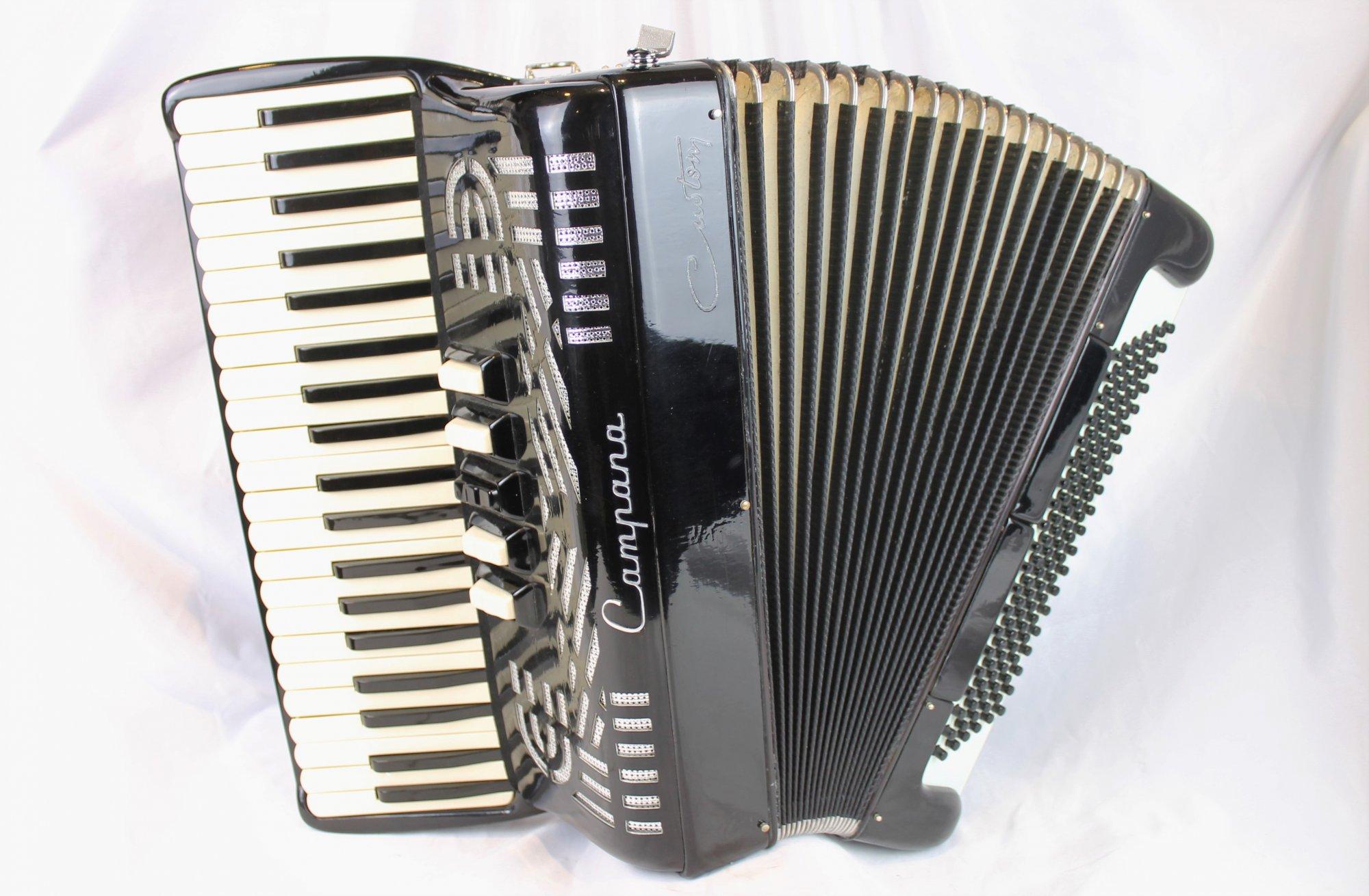 5207 - Black Campana Bell Piano Accordion LMMH 41 120