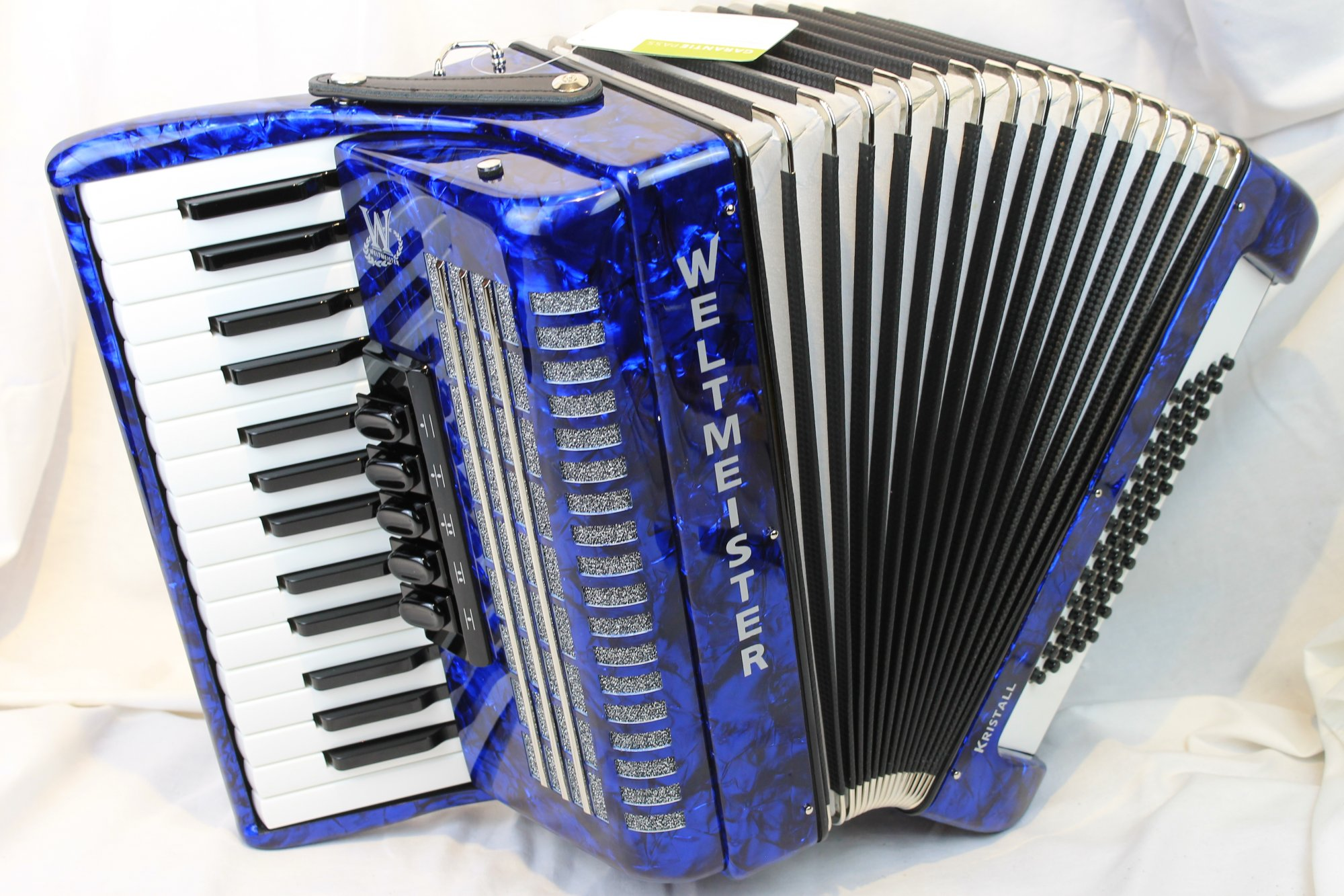 NEW Blue Weltmeister Kristall Piano Accordion LMM 30 60