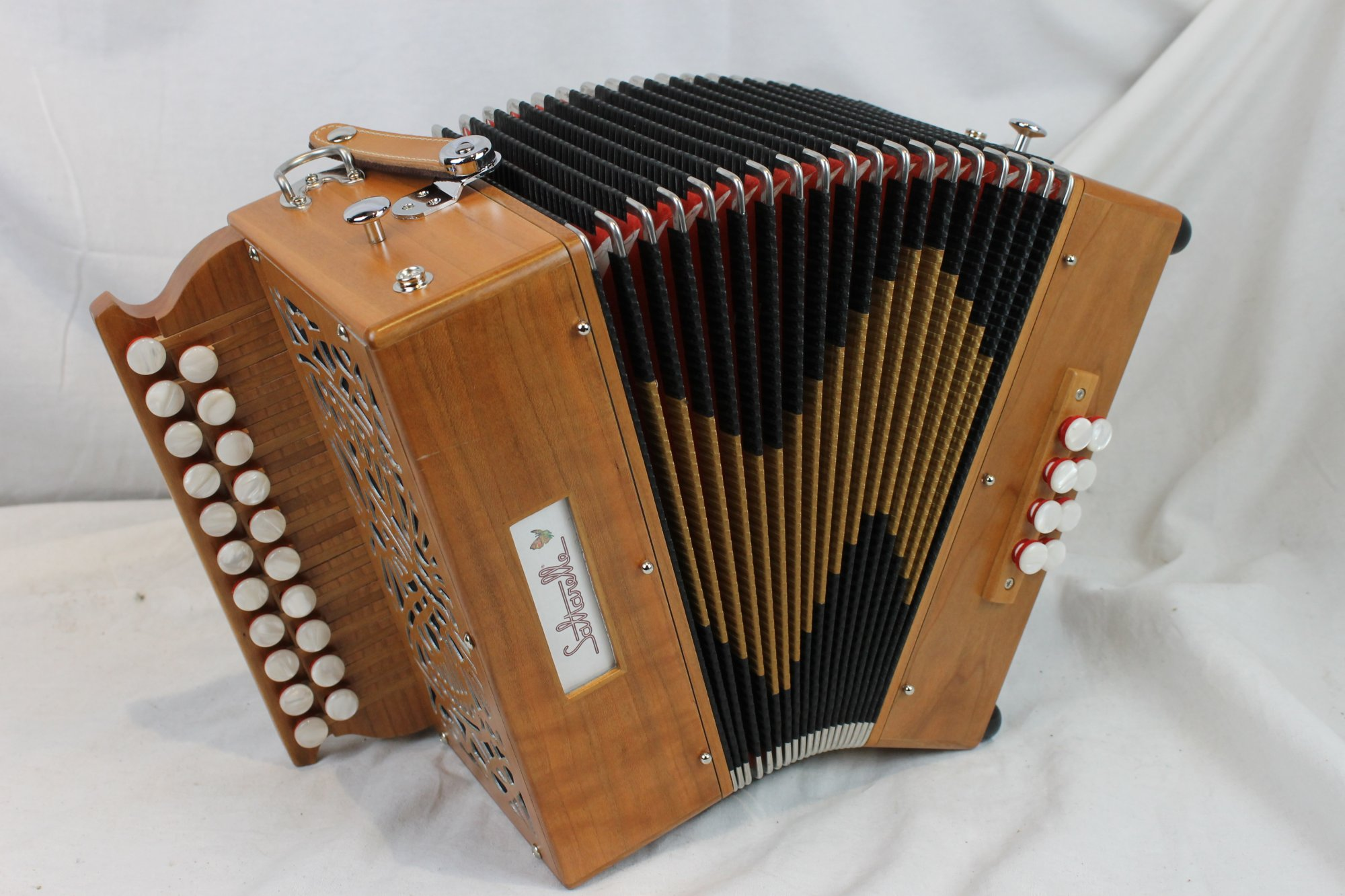 NEW Cherry Saltarelle Marty Diatonic Button Accordion D G MM 21 8
