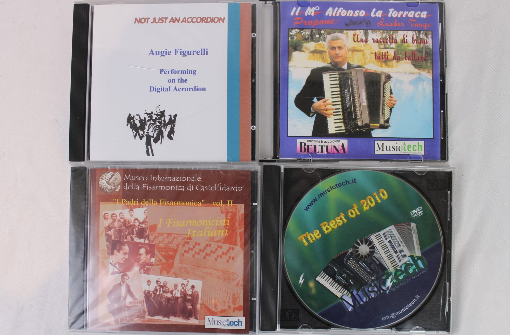 Lot of Four Digital Accordion and Musictech CDs