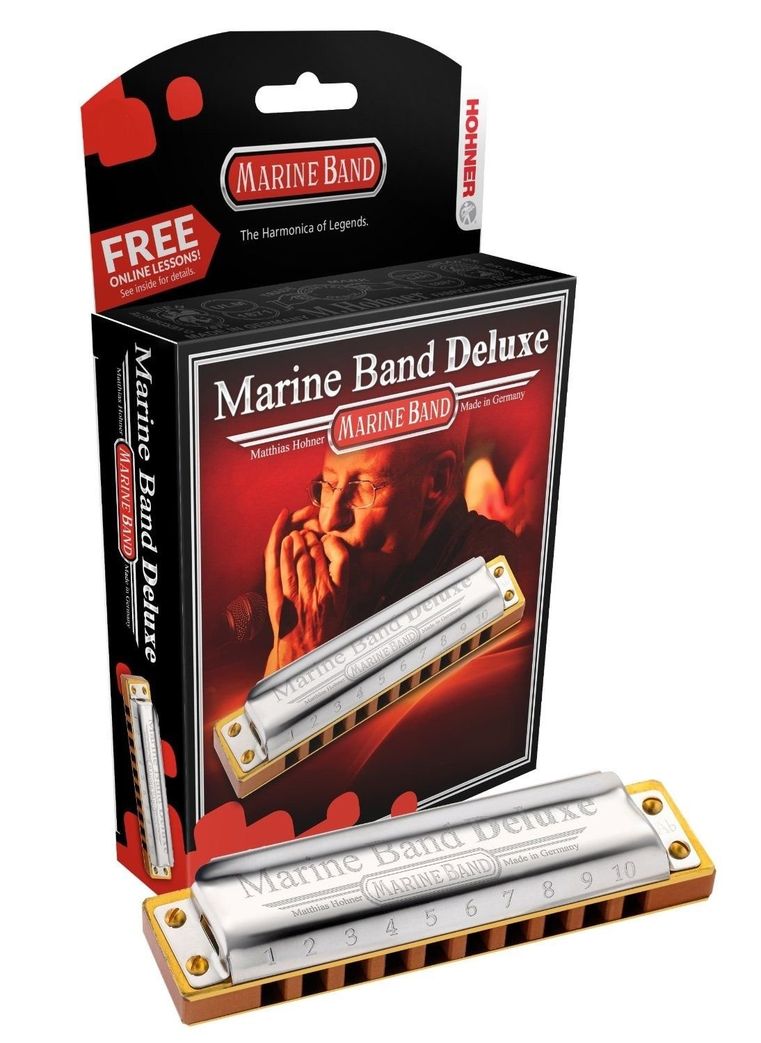 New Hohner Marine Band Deluxe Diatonic Harmonica Key of D