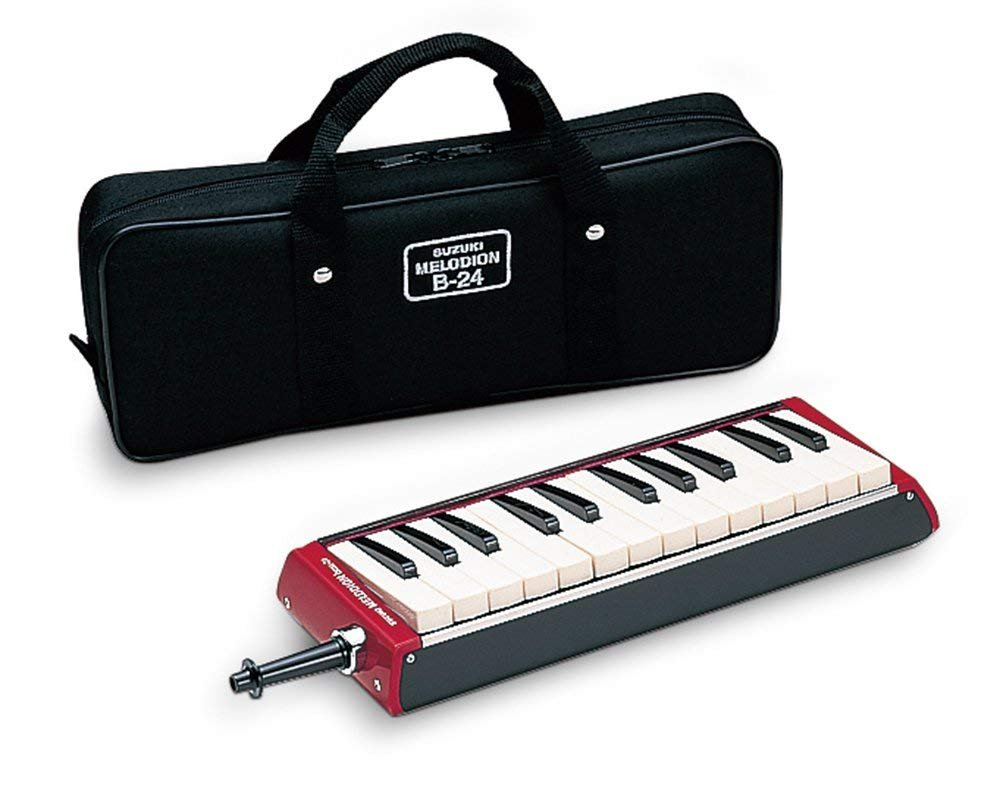 New Red Suzuki Bass Melodion 24 Key Melodica