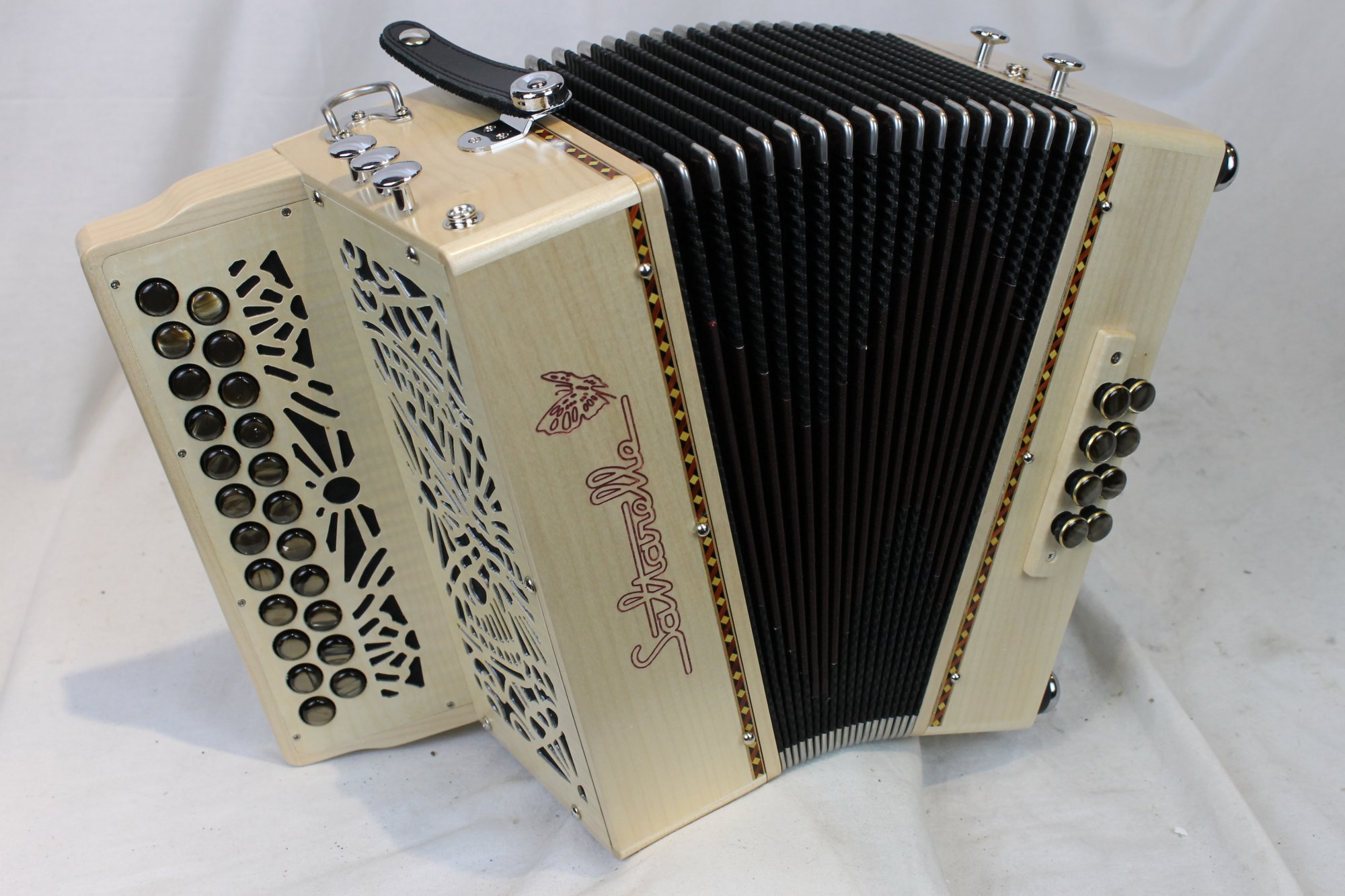 NEW Maple Saltarelle Nuage Diatonic Button Accordion B C LMM 23 8