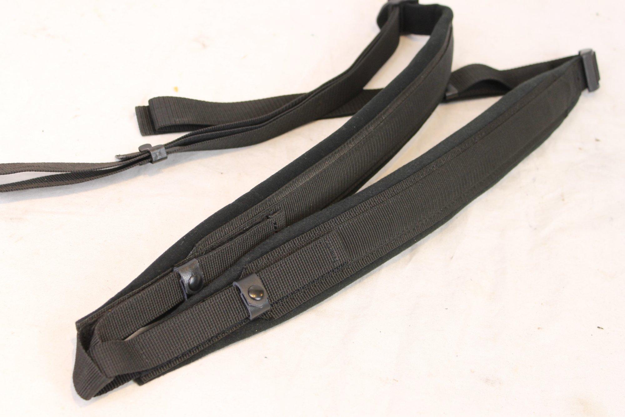 New Black Nylon Velour Accordion Shoulder Straps Width (5cm /2in) Length (56~112cm / 22~43in)