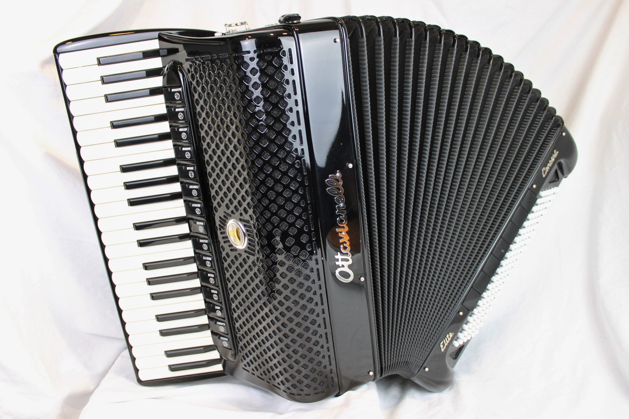 NEW Black Ottavianelli Elite Concert Piano Accordion LMMMH 41 120