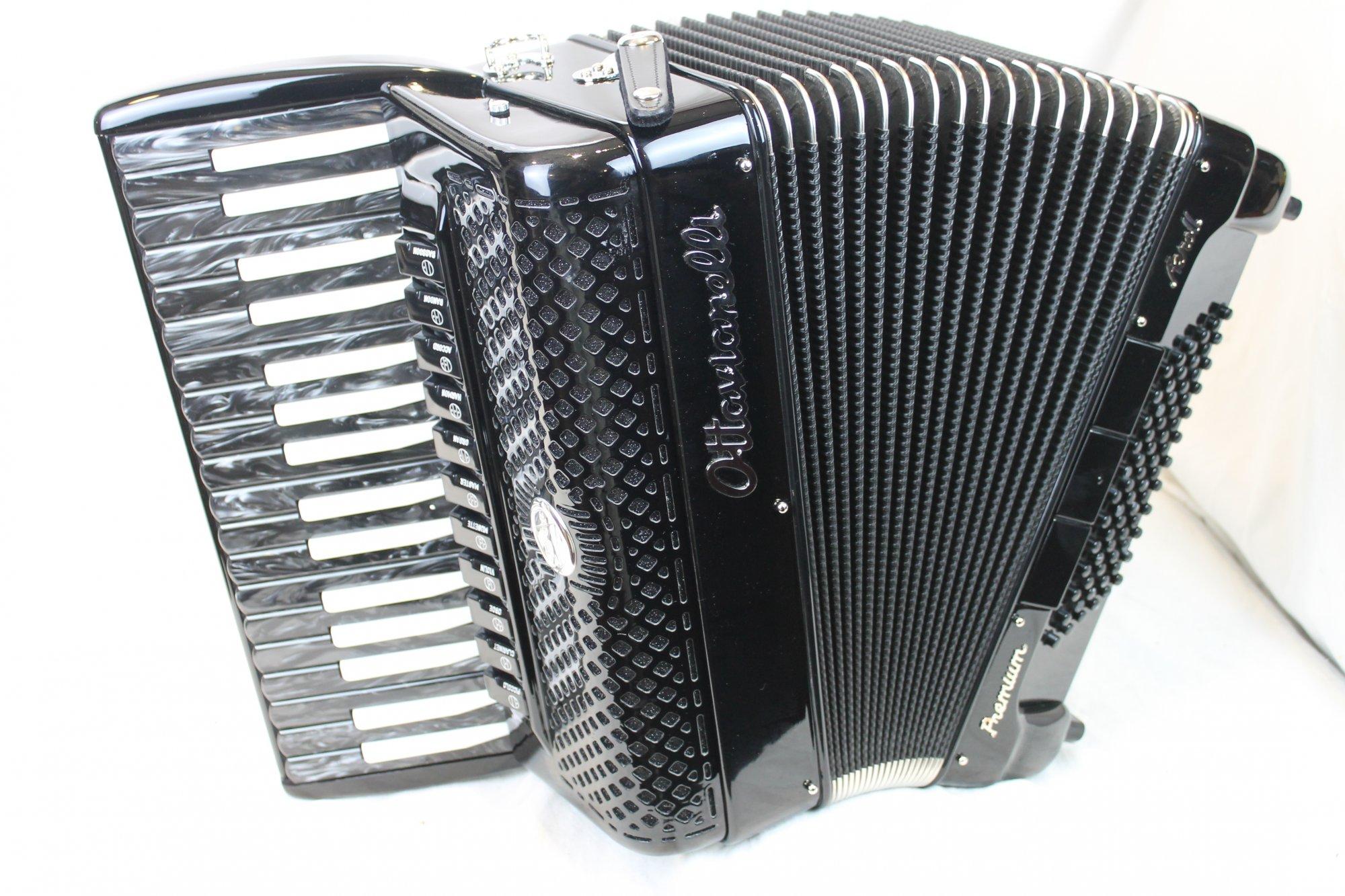 NEW Black Inverted Ottavianelli Aero II Piano Accordion LMMH 34 72