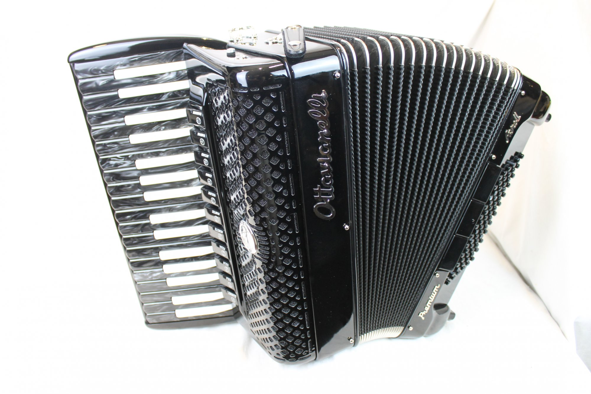 NEW Black Inverted Ottavianelli Aero II Piano Accordion LMMM 34 72