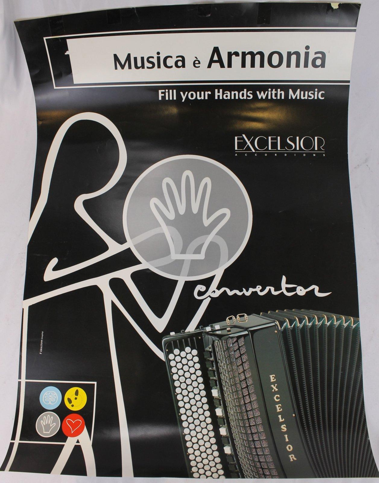 27 x 19 Black Excelsior Musica e Armonia Poster