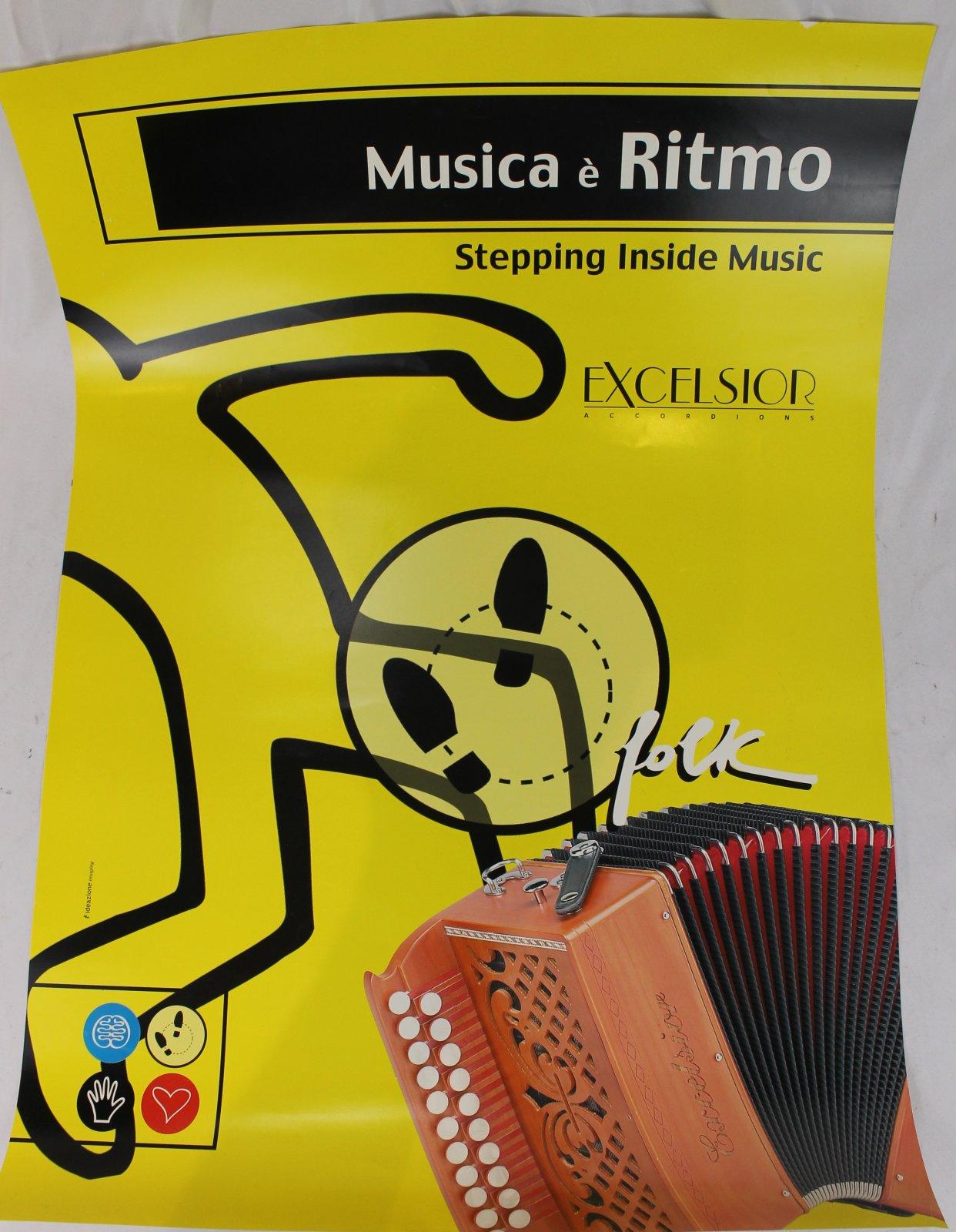 27 x 19 Yellow Excelsior Musica e Ritmo Poster