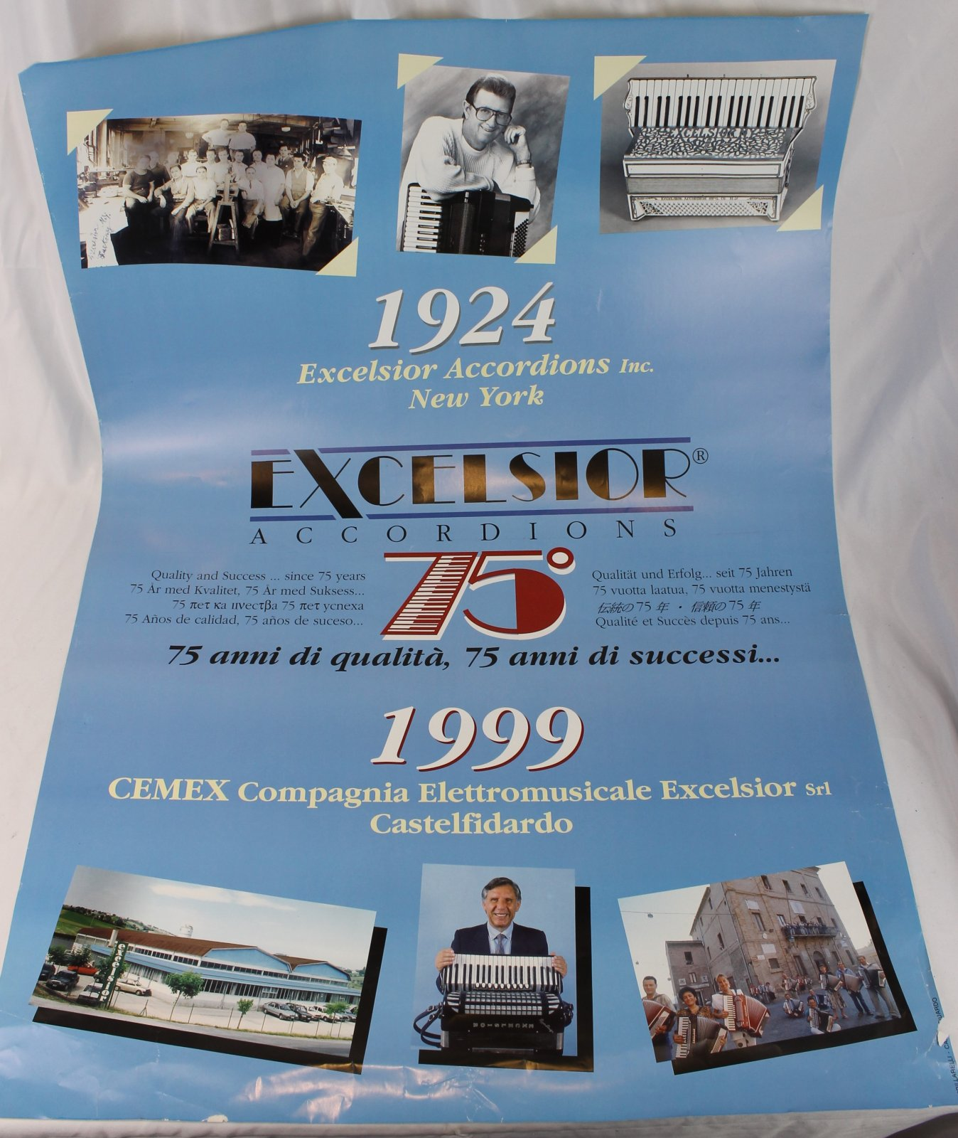 36 x 25 Blue Excelsior 75th Anniversary Poster