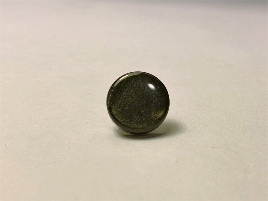 Chromatic Button Accordion Part - Black Pearl Treble Button 15mm Diameter