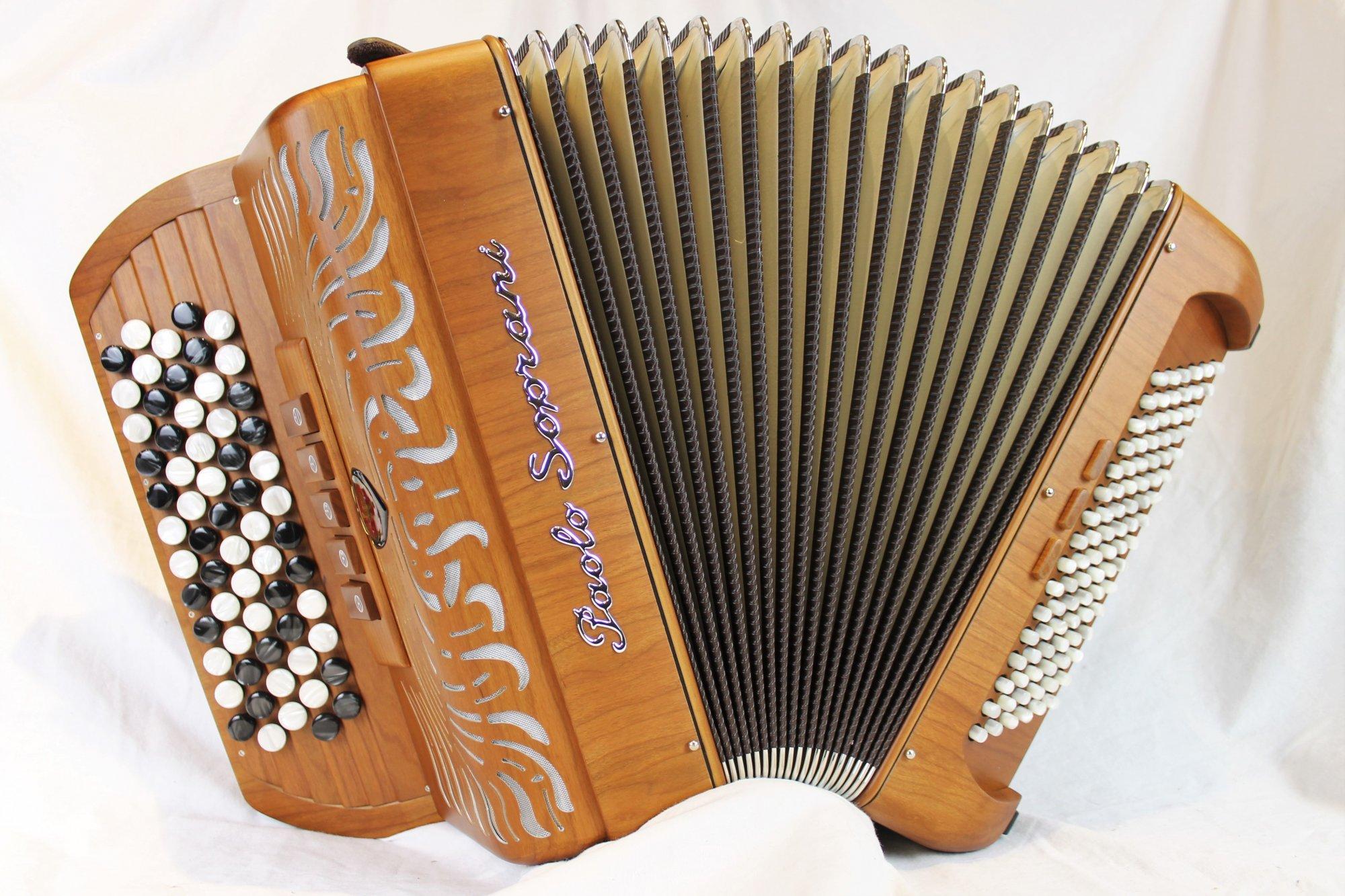 NEW Mahogany Paolo Soprani Folk Chromatic Button Accordion C System LMM 62 96