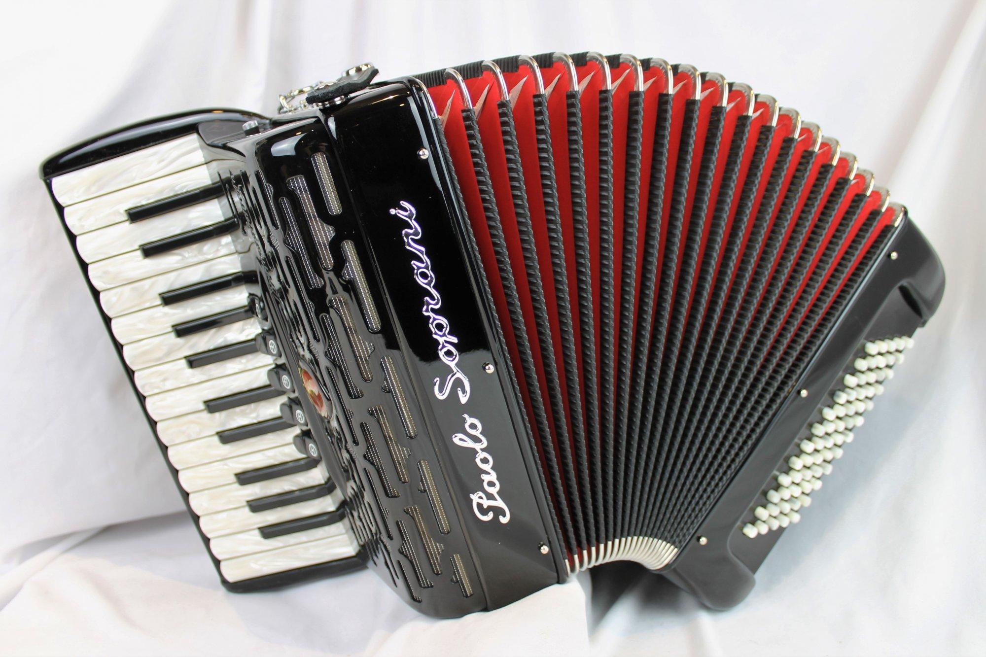NEW Black Paolo Soprani Professionale Piano Accordion LMM 26 60