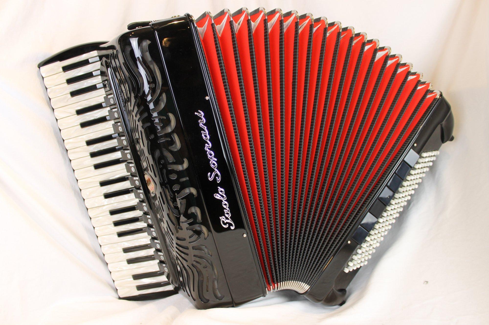 NEW Black Paolo Soprani Professionale Mogherini Piano Accordion LMMMH 41 120