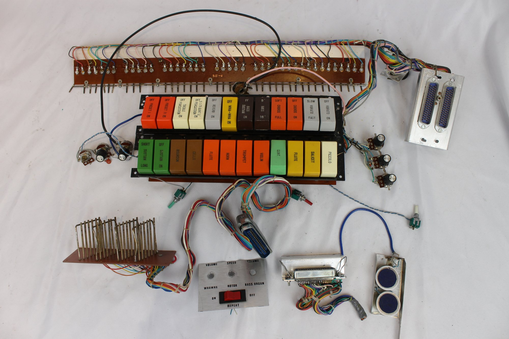 Bell Duovox Accordion Parts - Electronic Components and Dynamic Microphones