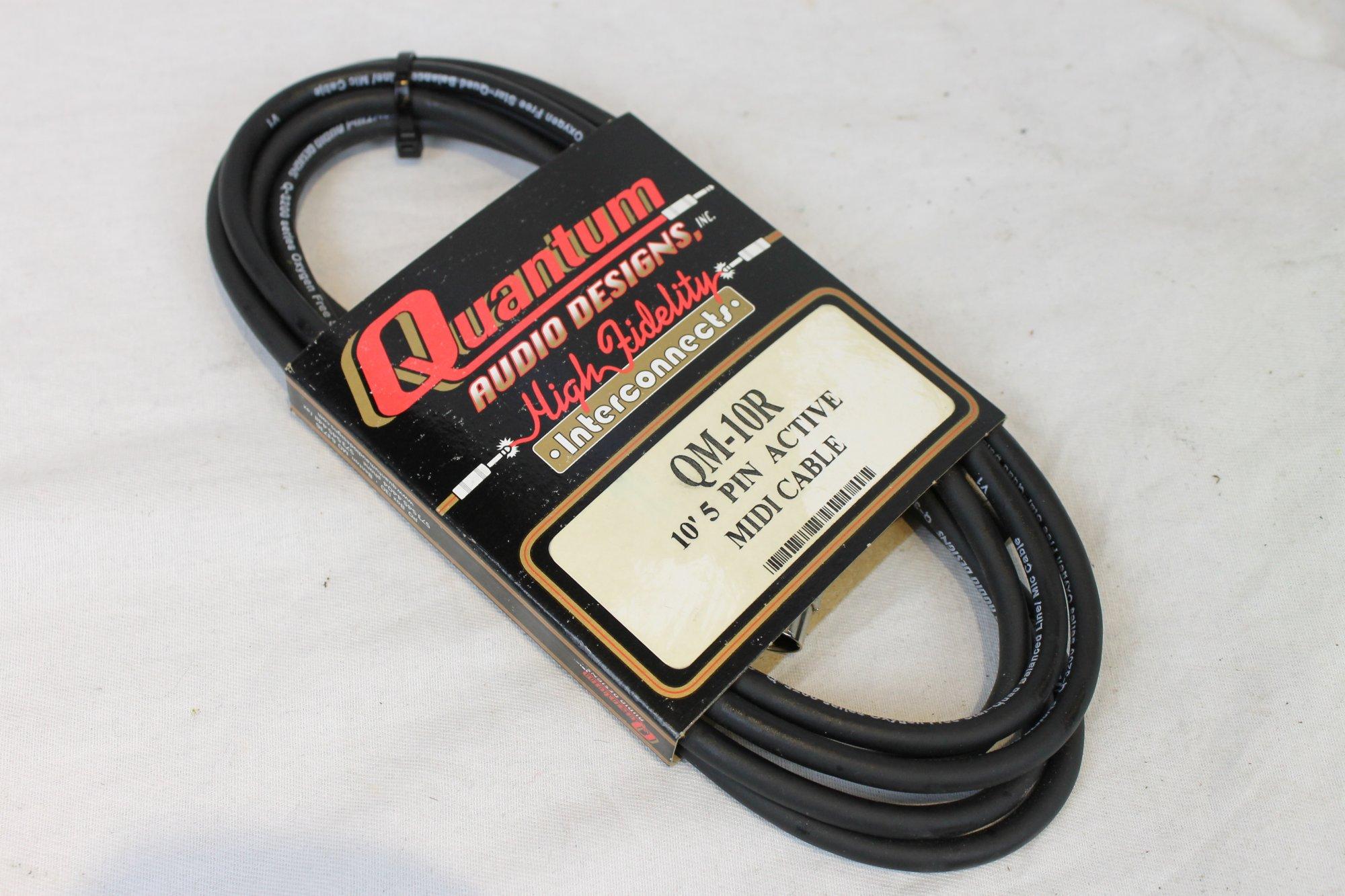 NEW Quantum Audio Designs QM-10R 5 Pin Active Midi Cable 10 Feet