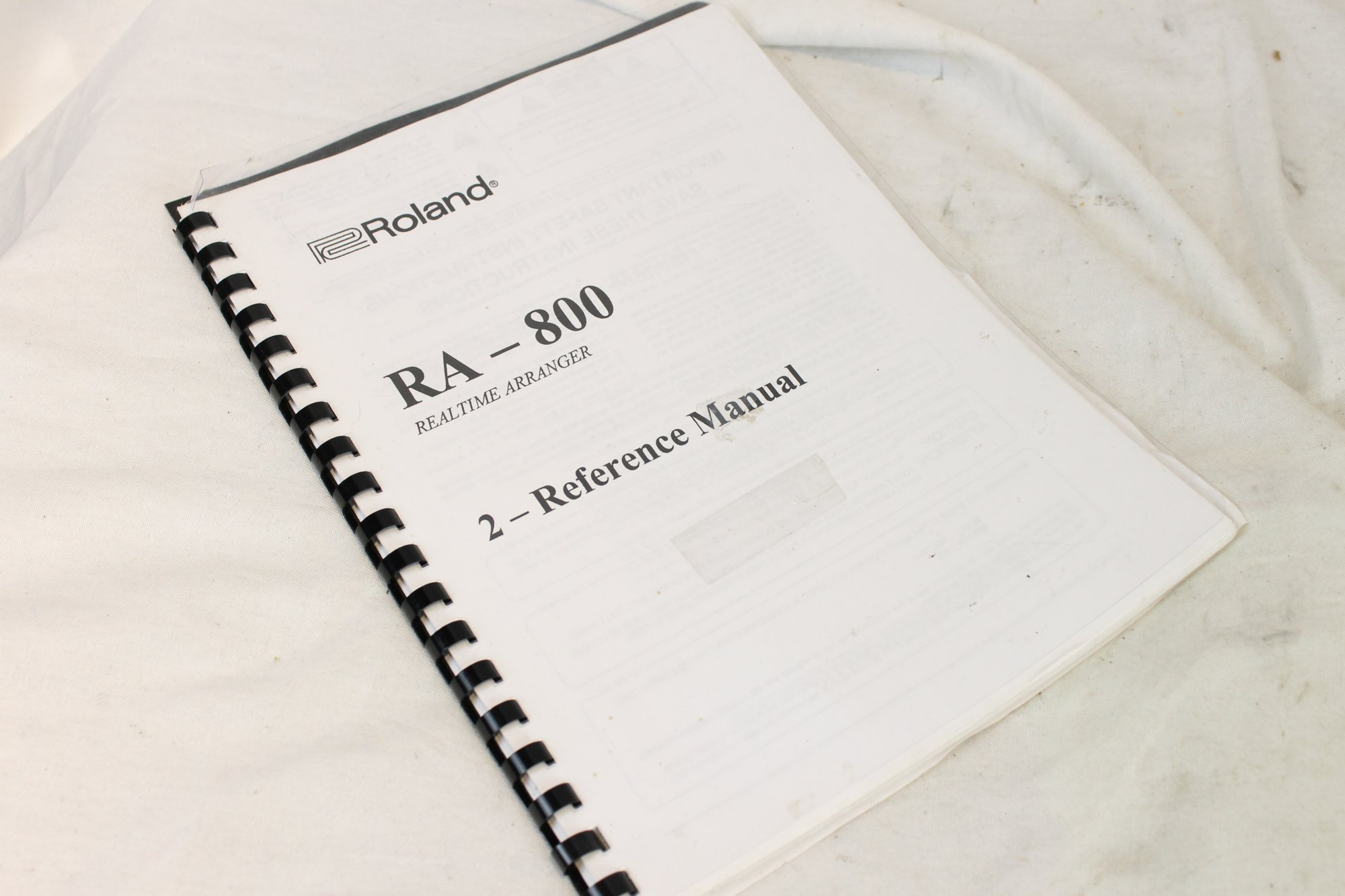 RA4/6 - Roland RA-800 Realtime Arranger Reference Manual