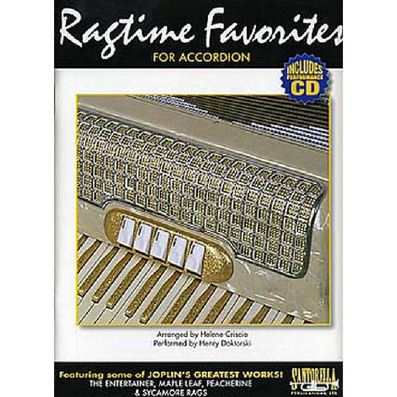 Ragtime Favorites For Accordion w/Perfomance CD