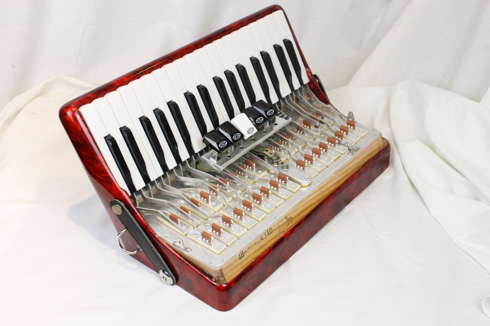 NEW Hohner Hohnica Accordion Part - Red Treble Section and Switch Mechanism 16.5 x 7 x 9