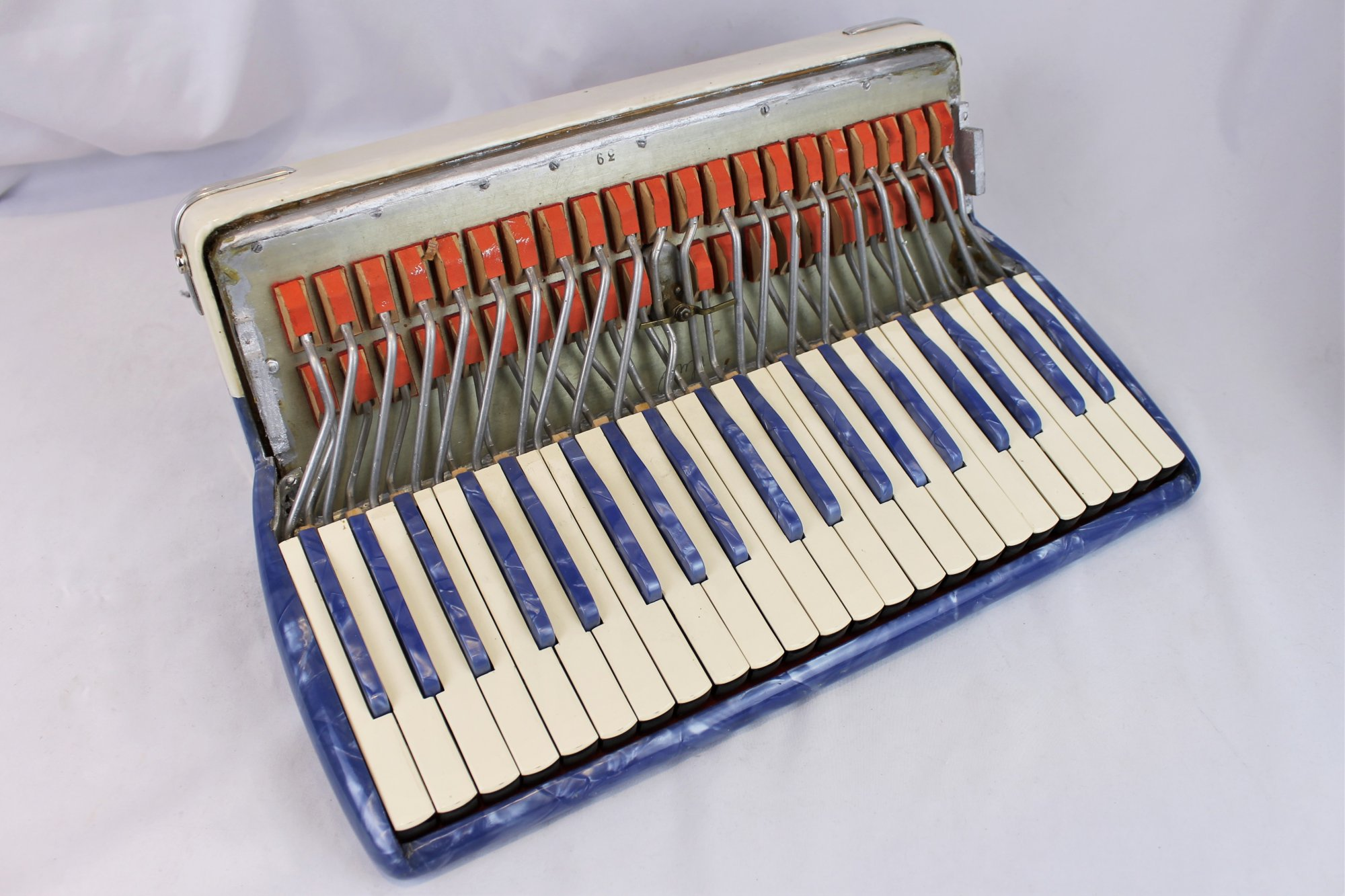 Italian Accordion Part - White and Blue Treble Section 17 x 9 x 6.5