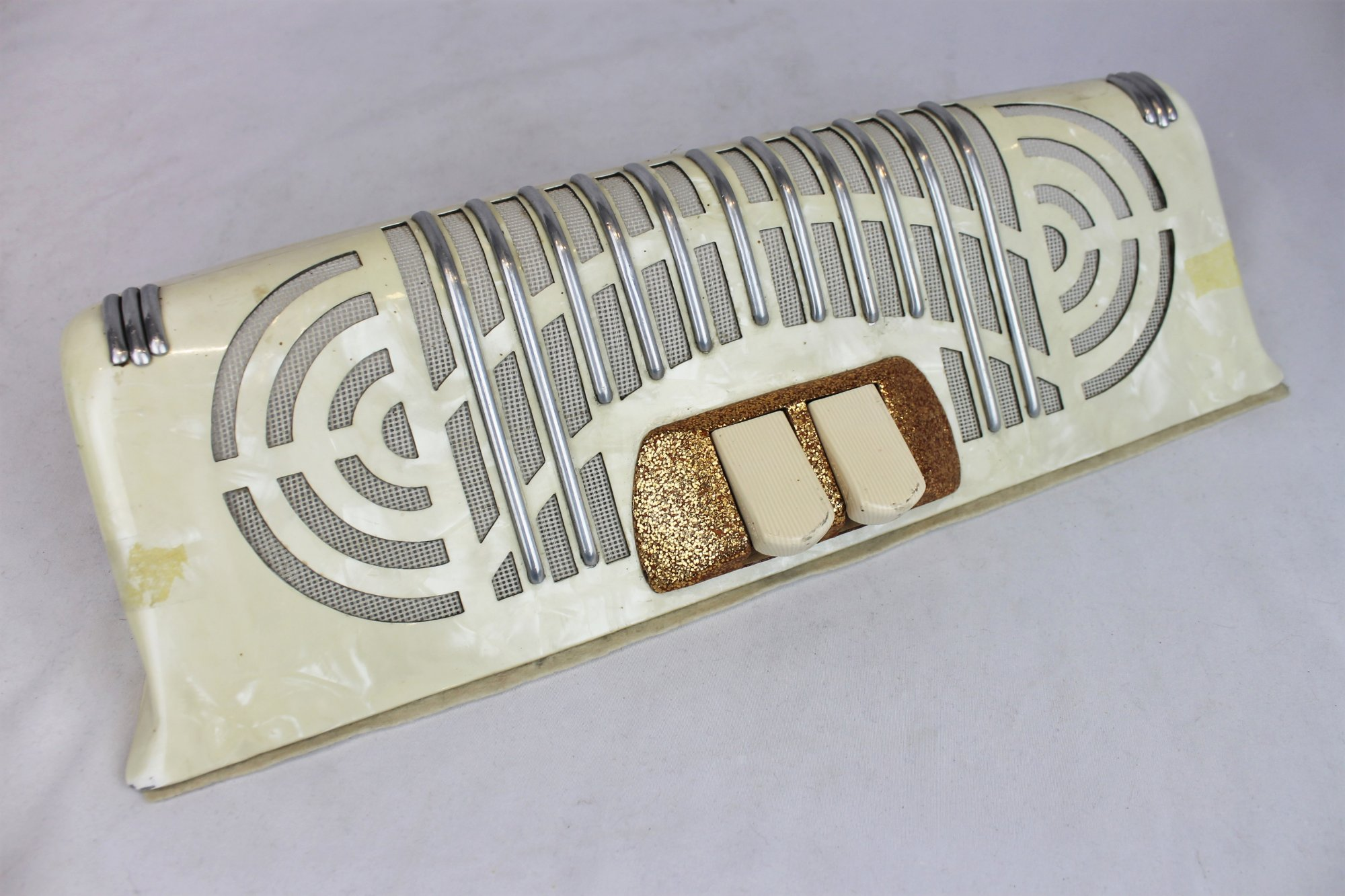 Accordion Part - Cream Grill  and Switches 16.25 x 5.25 x 1.8