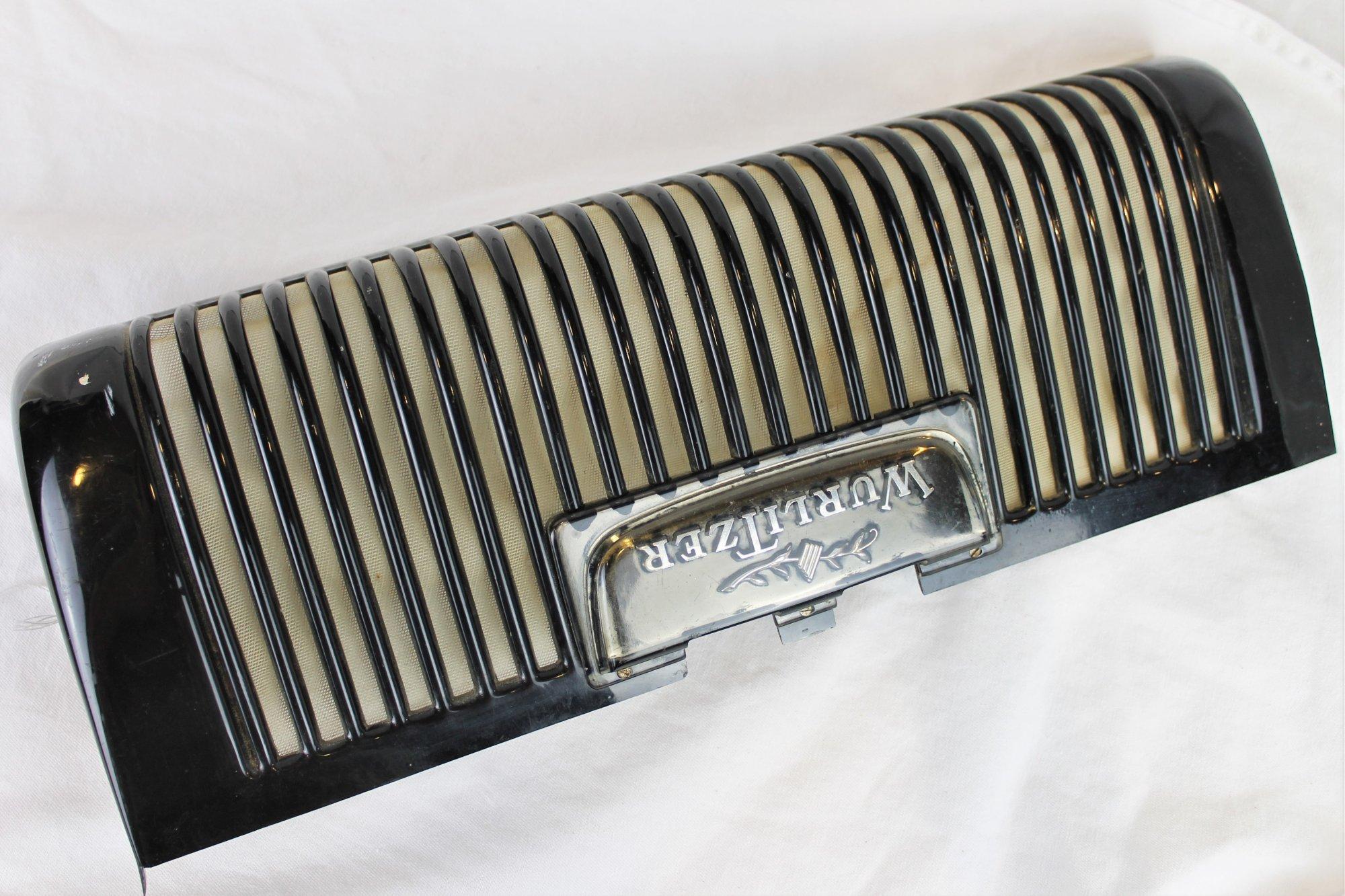 Wurlitzer Accordion Part - Black Grill 17.5 x 6.5 x 2