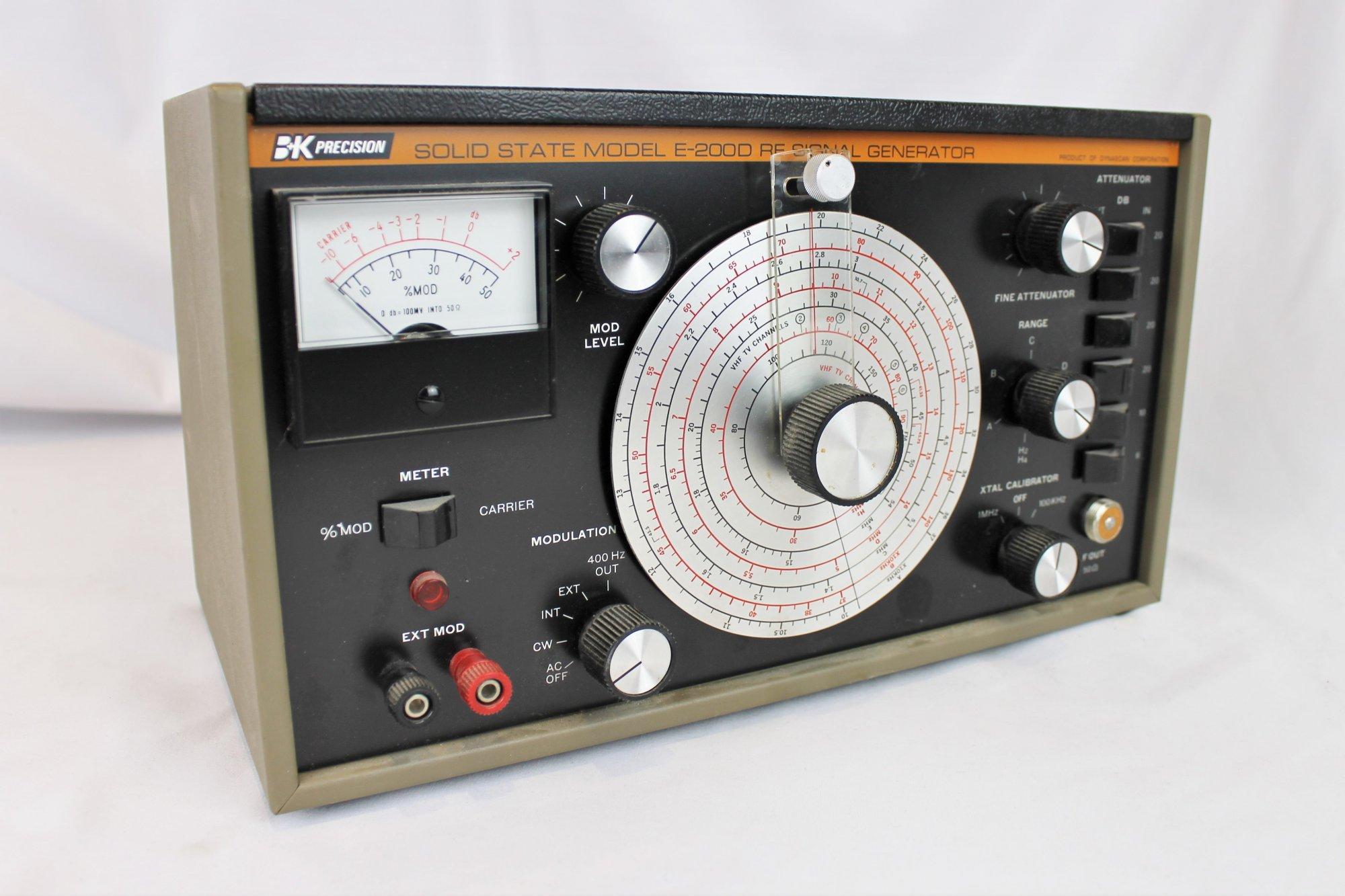 B&K Precision Solid State Model E-2000 RF Signal Generator