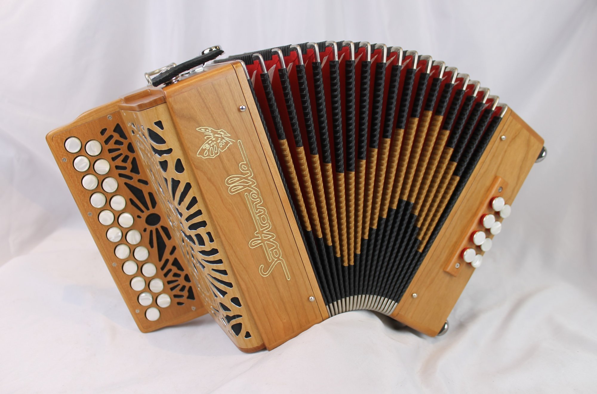 NEW Cherry Saltarelle Aether II Diatonic Button Accordion B C MM 21 8