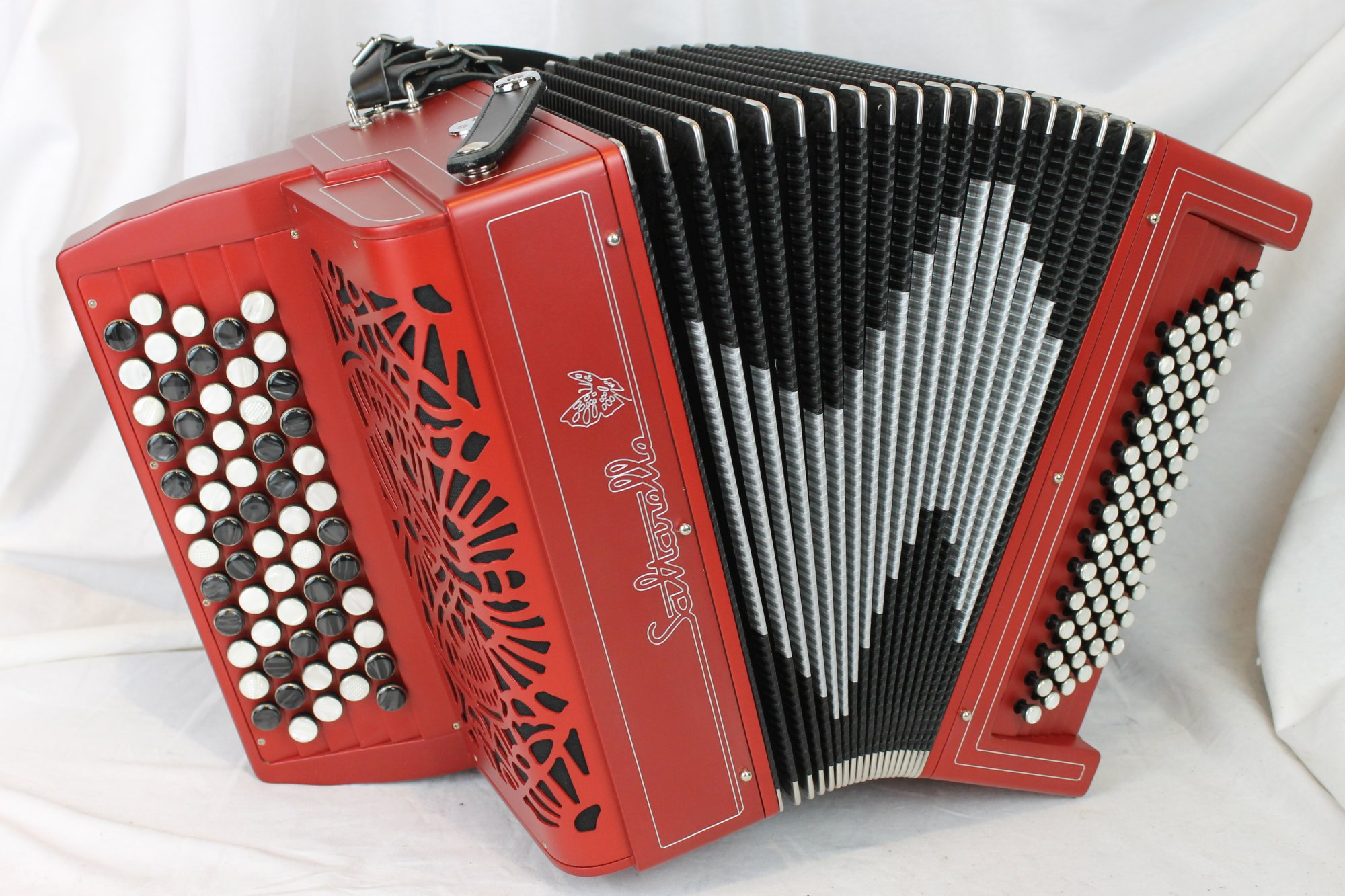 NEW Red Saltarelle Agapanthe Chromatic Button Accordion C LMM 60 84