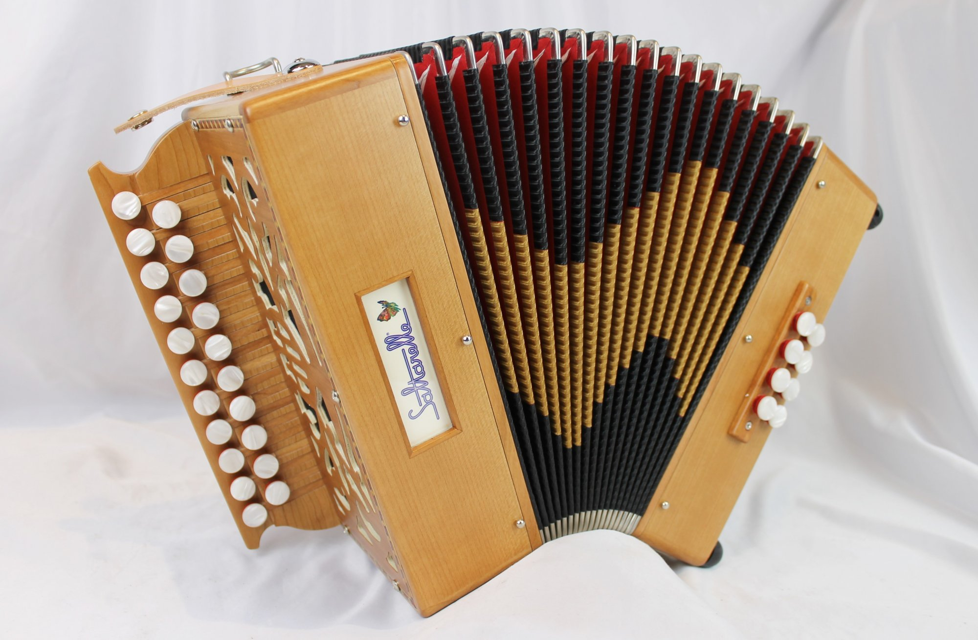 NEW Cherry Saltarelle Bouebe Diatonic Button Accordion D G MM 21 8