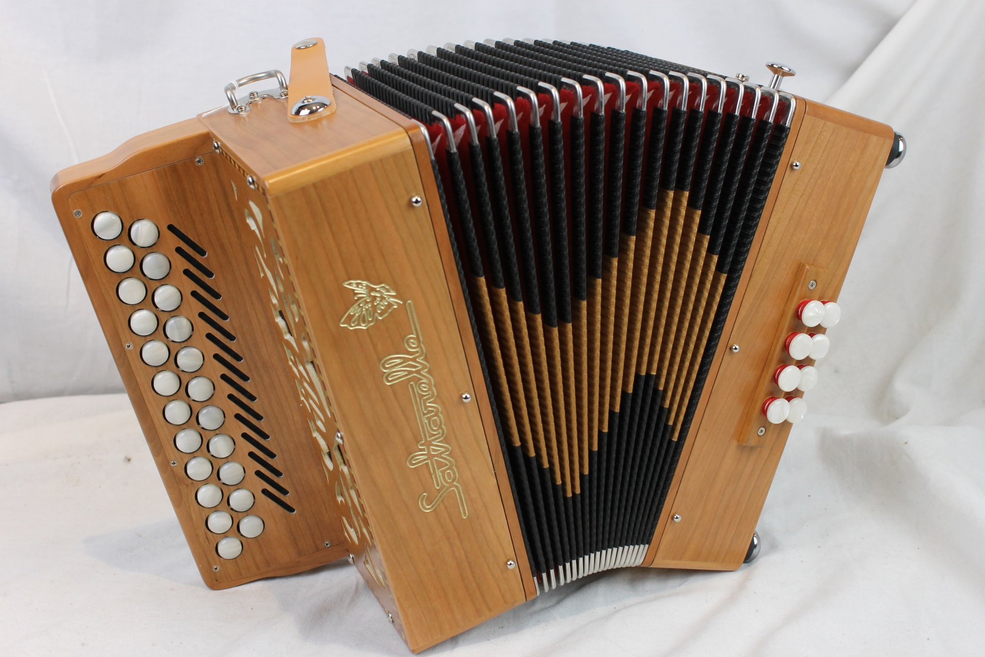 NEW Cherry Saltarelle Irish Bouebe Diatonic Button Accordion C# D MM 21 8